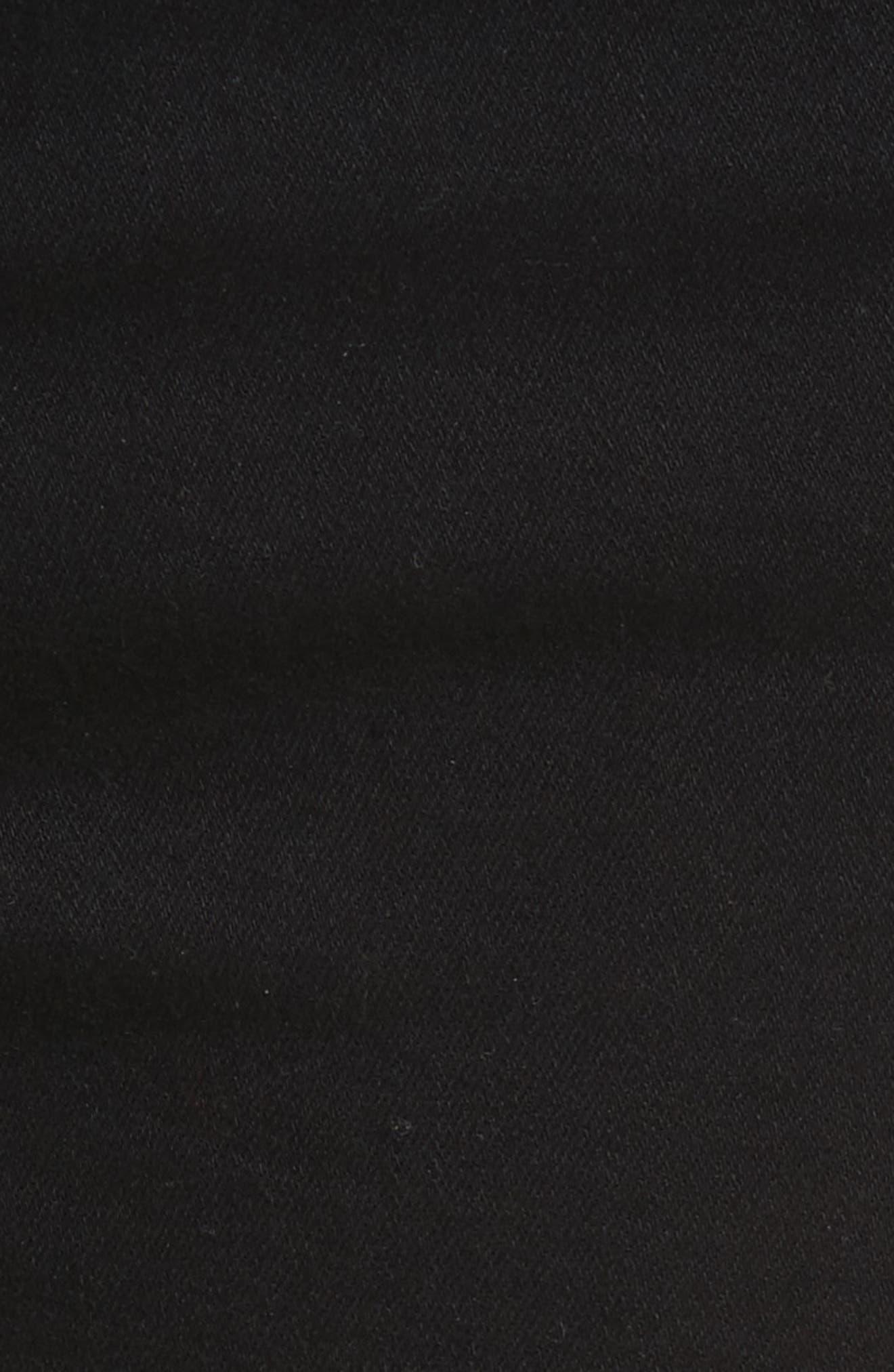 Le Skinny de Jeanne Flounce Skinny Jeans,                             Alternate thumbnail 6, color,                             Film Noir