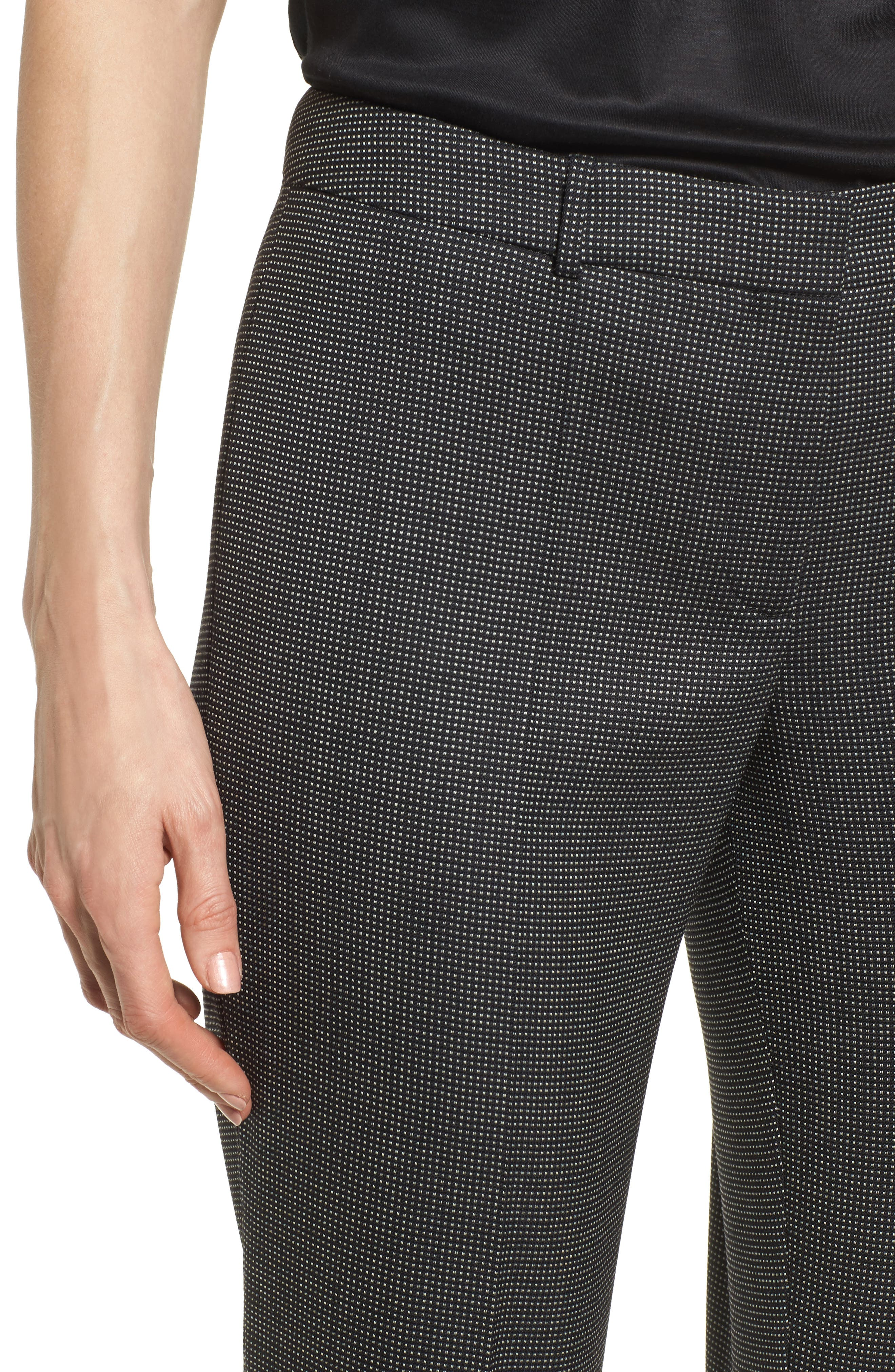 Tamea Straight Leg Stretch Wool Suit Pants,                             Alternate thumbnail 4, color,                             Black Fantasy