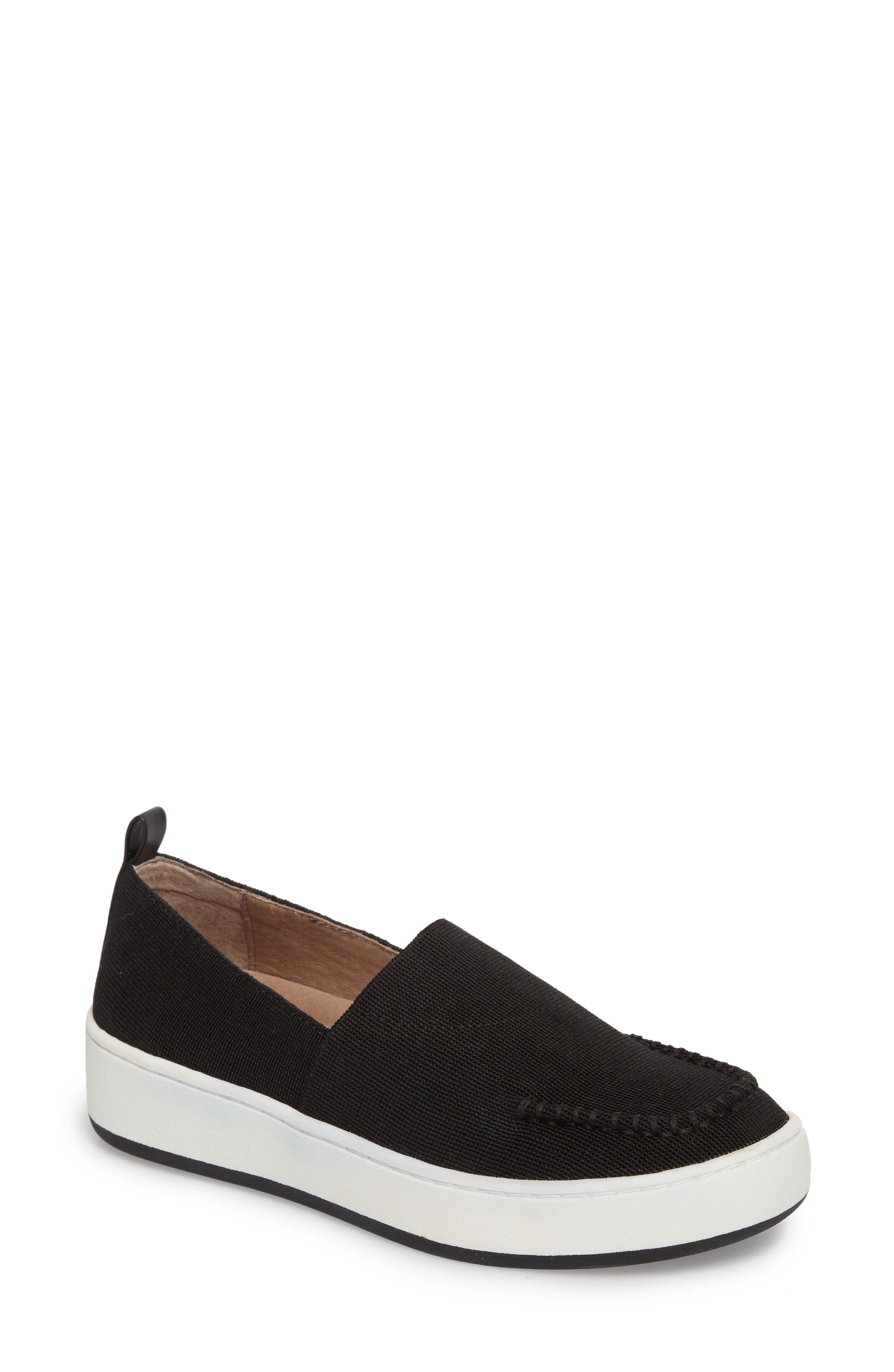 Cory Slip-On Sneaker,                             Main thumbnail 1, color,                             Black Elastic Fabric