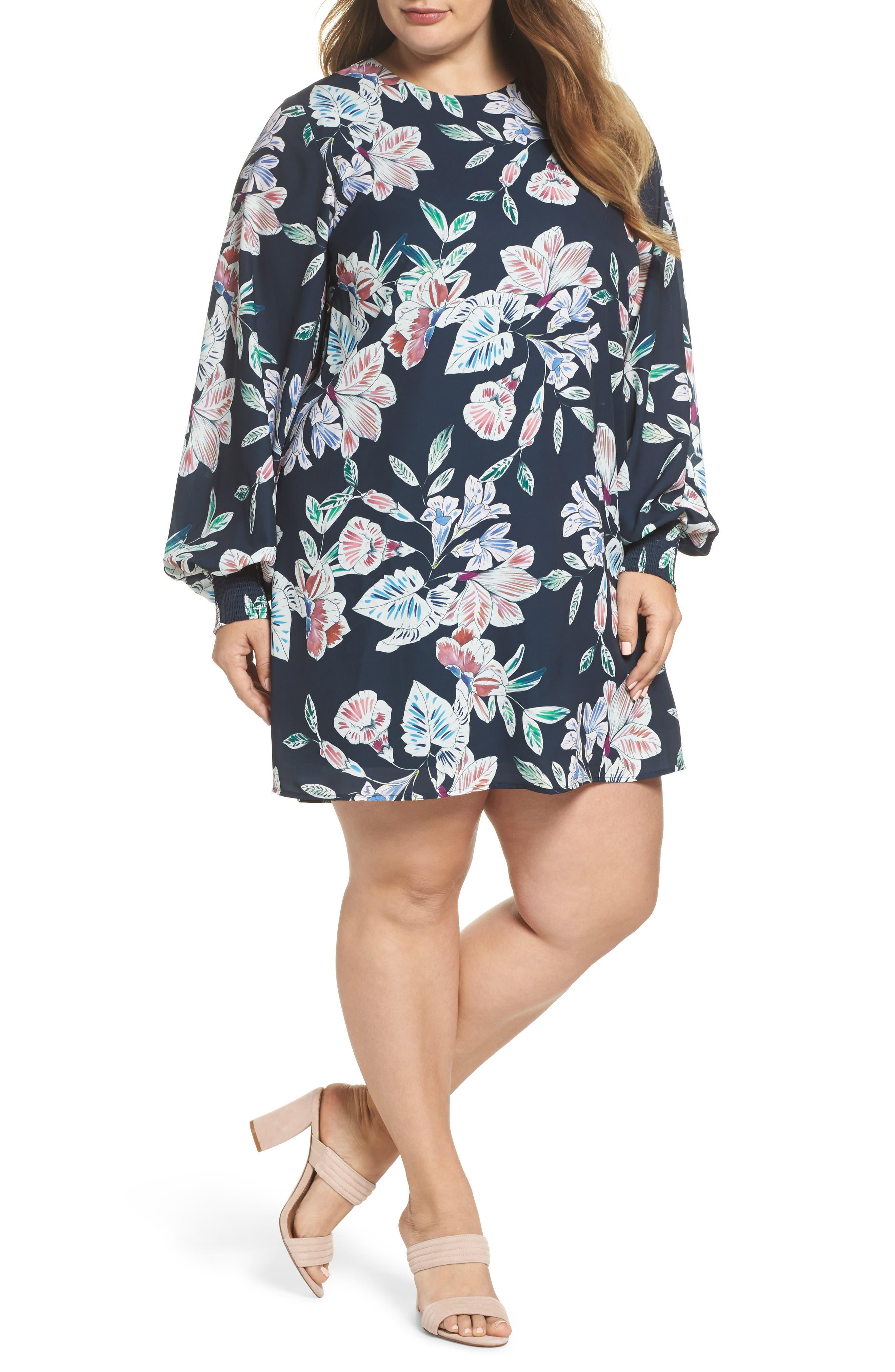 Cooper St Phantom Floral Shift Dress (Plus Size)