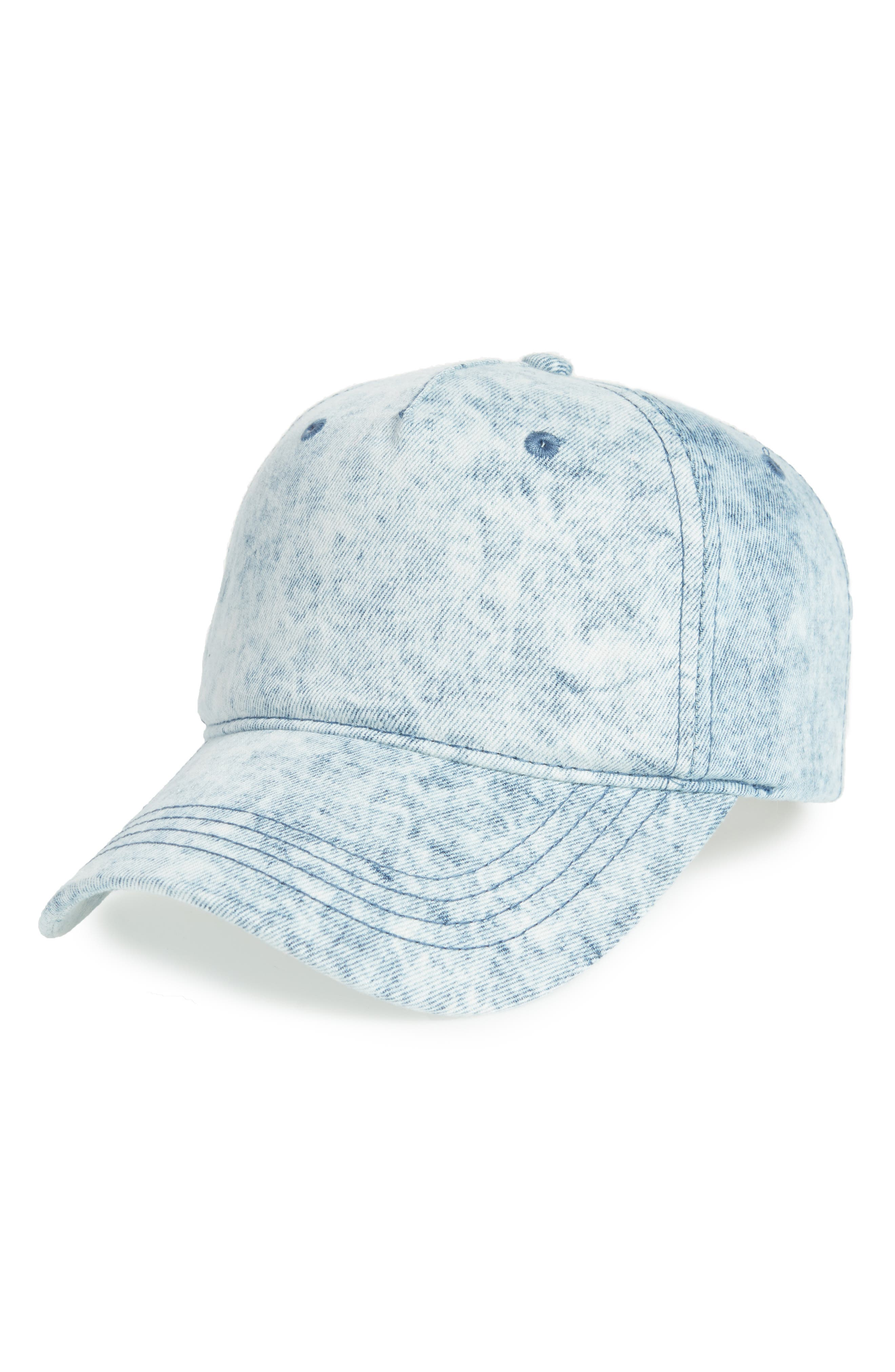Denim Cap,                         Main,                         color, Blue
