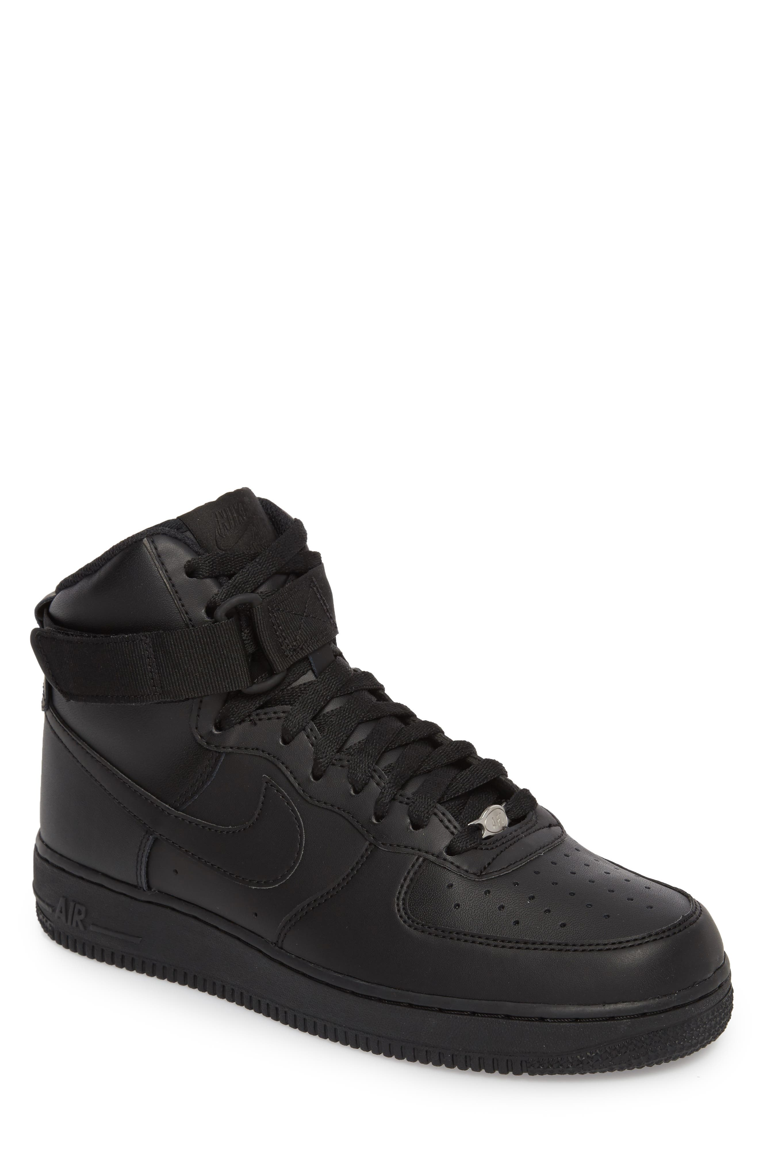Air Force 1 High '07 Sneaker,                         Main,                         color, Black/ Black