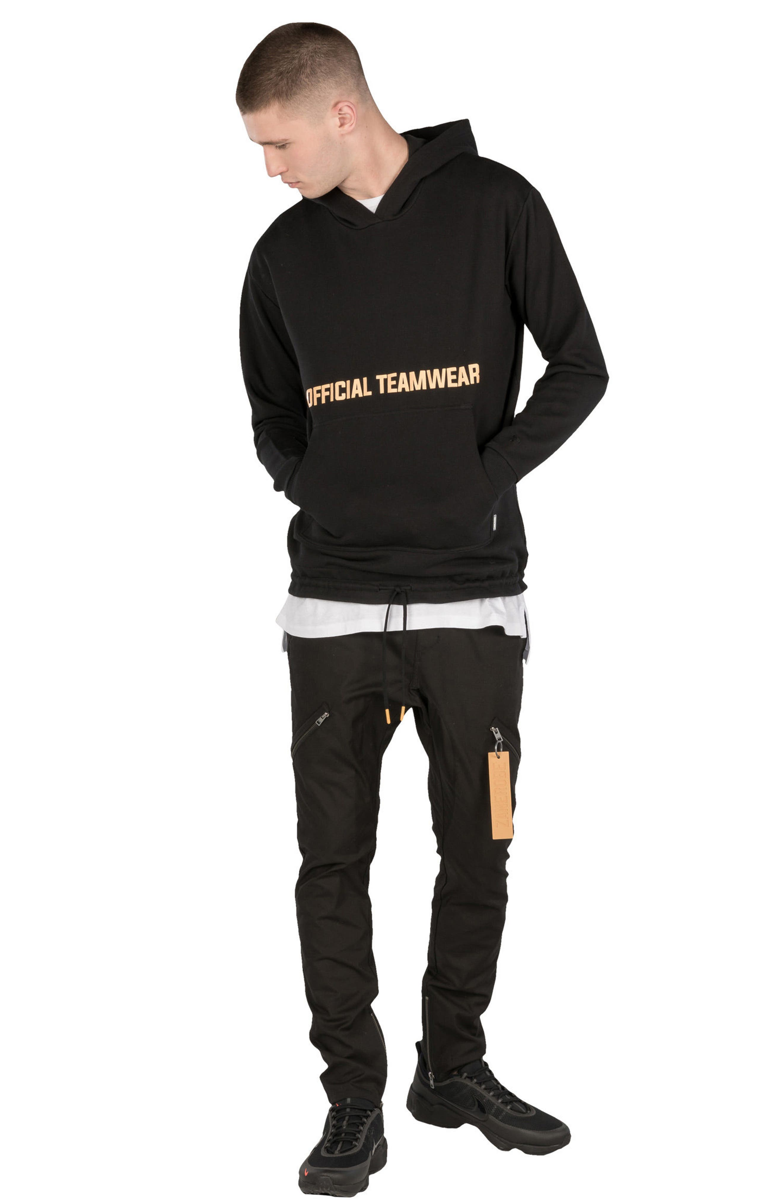 Teamwear Box Hoodie Sweatshirt,                             Alternate thumbnail 4, color,                             Black