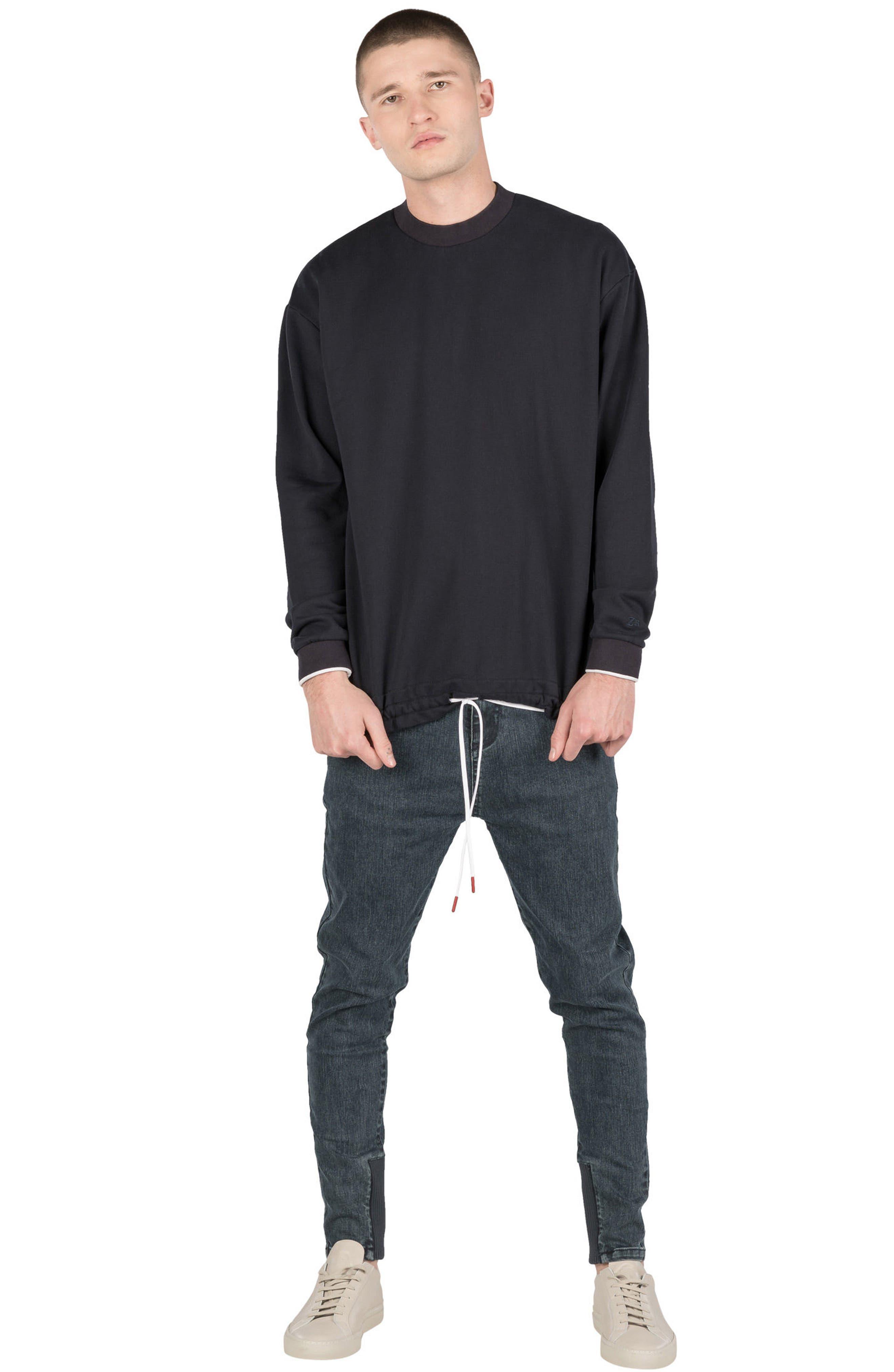 Box Sweatshirt,                             Alternate thumbnail 5, color,                             Navy