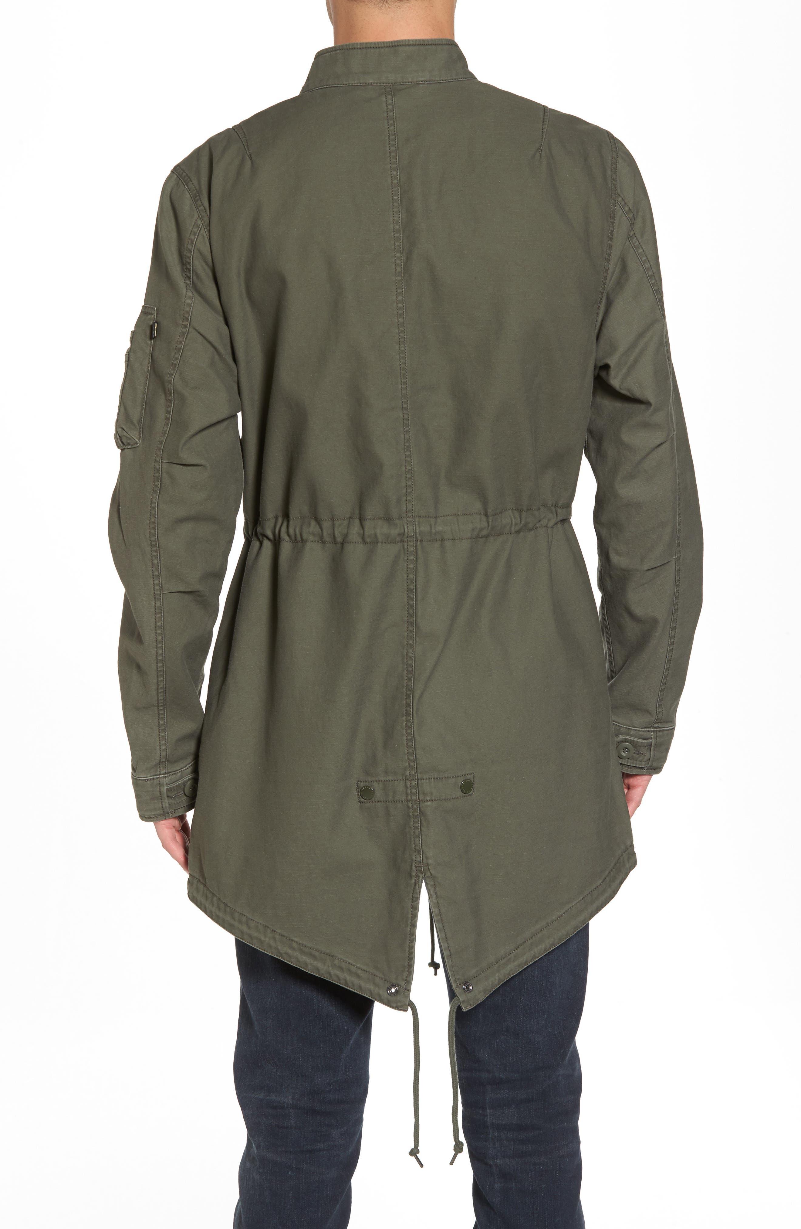 Recruit Fishtail Jacket,                             Alternate thumbnail 2, color,                             M-65 Olive