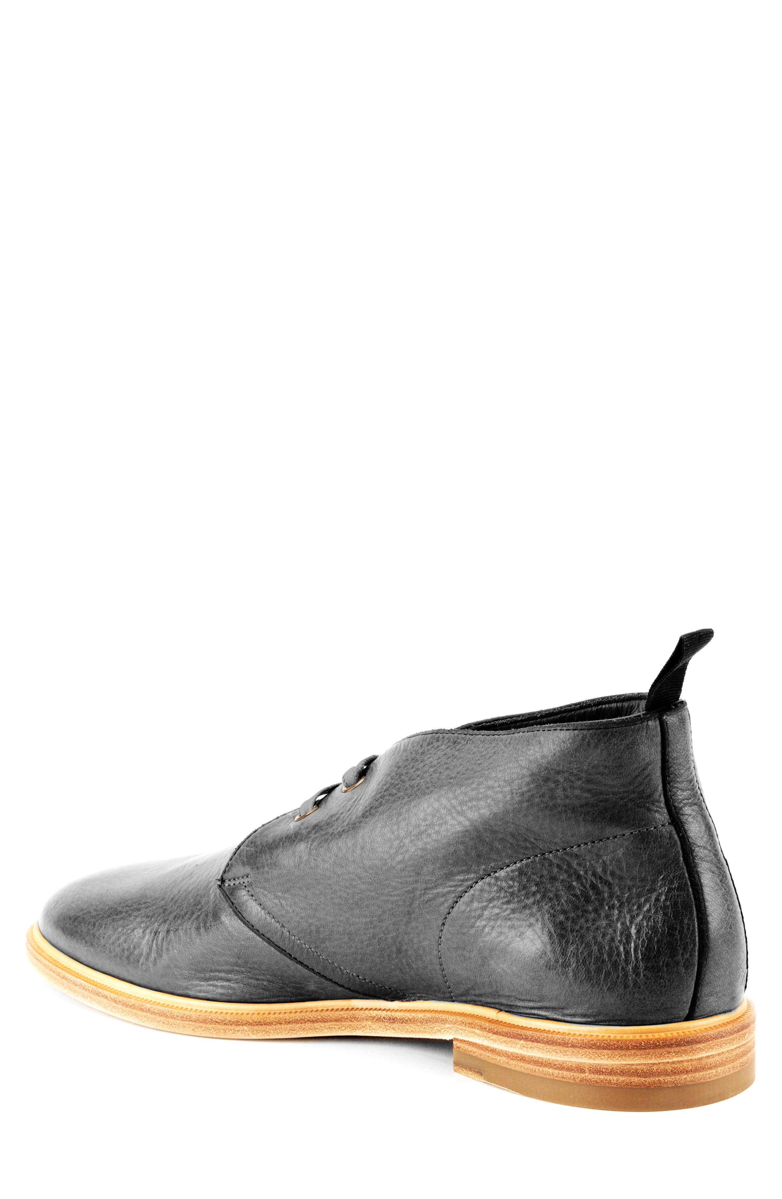 Luke Chukka Boot,                             Alternate thumbnail 2, color,                             Black Leather