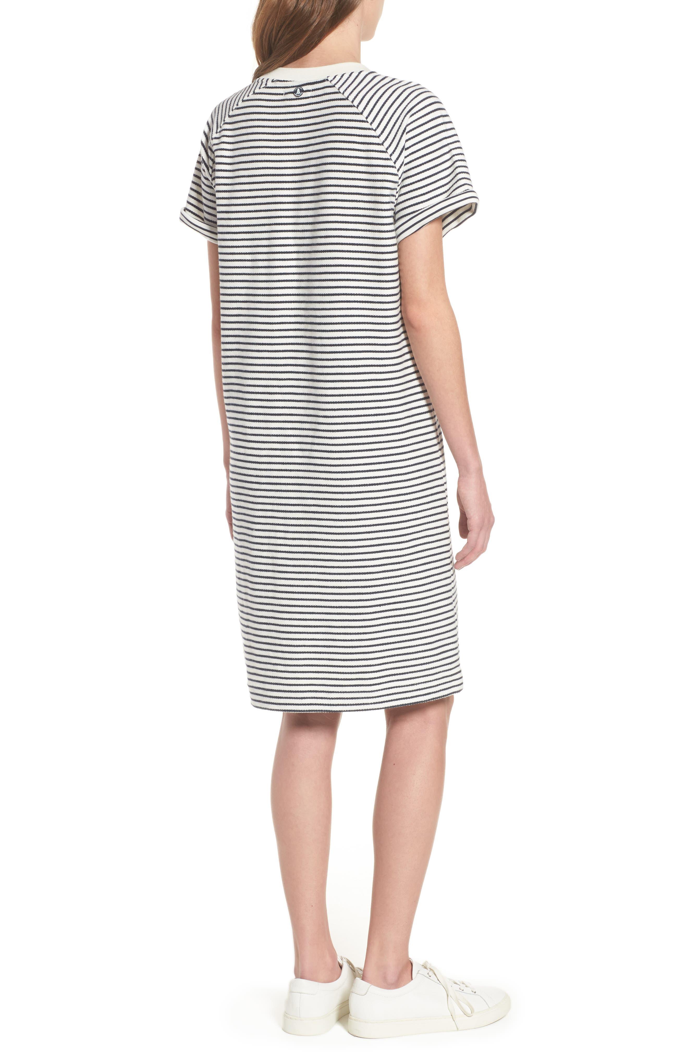 Monreith Stripe Shift Dress,                             Alternate thumbnail 2, color,                             White/ Navy