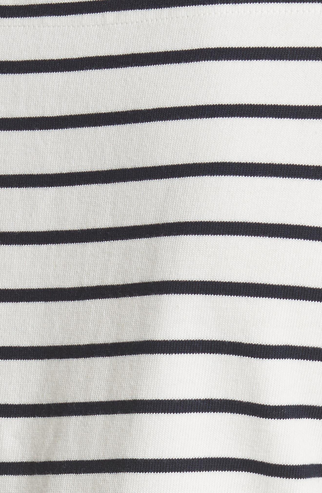 Stripe Knit Dress,                             Alternate thumbnail 5, color,                             Milk Combo