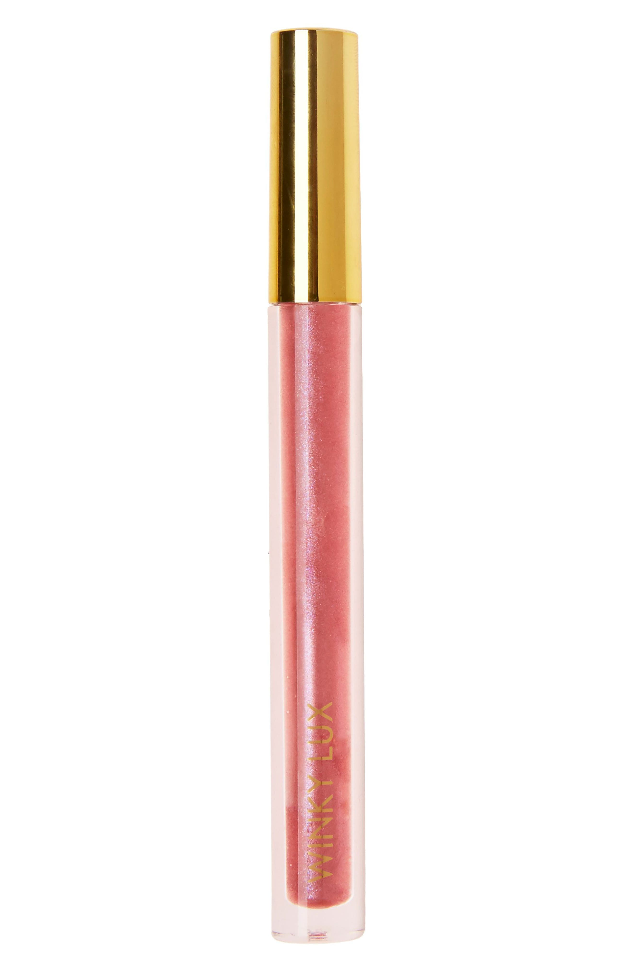 Glazed Donut Lip Gloss,                             Main thumbnail 1, color,                             Cherry Glaze