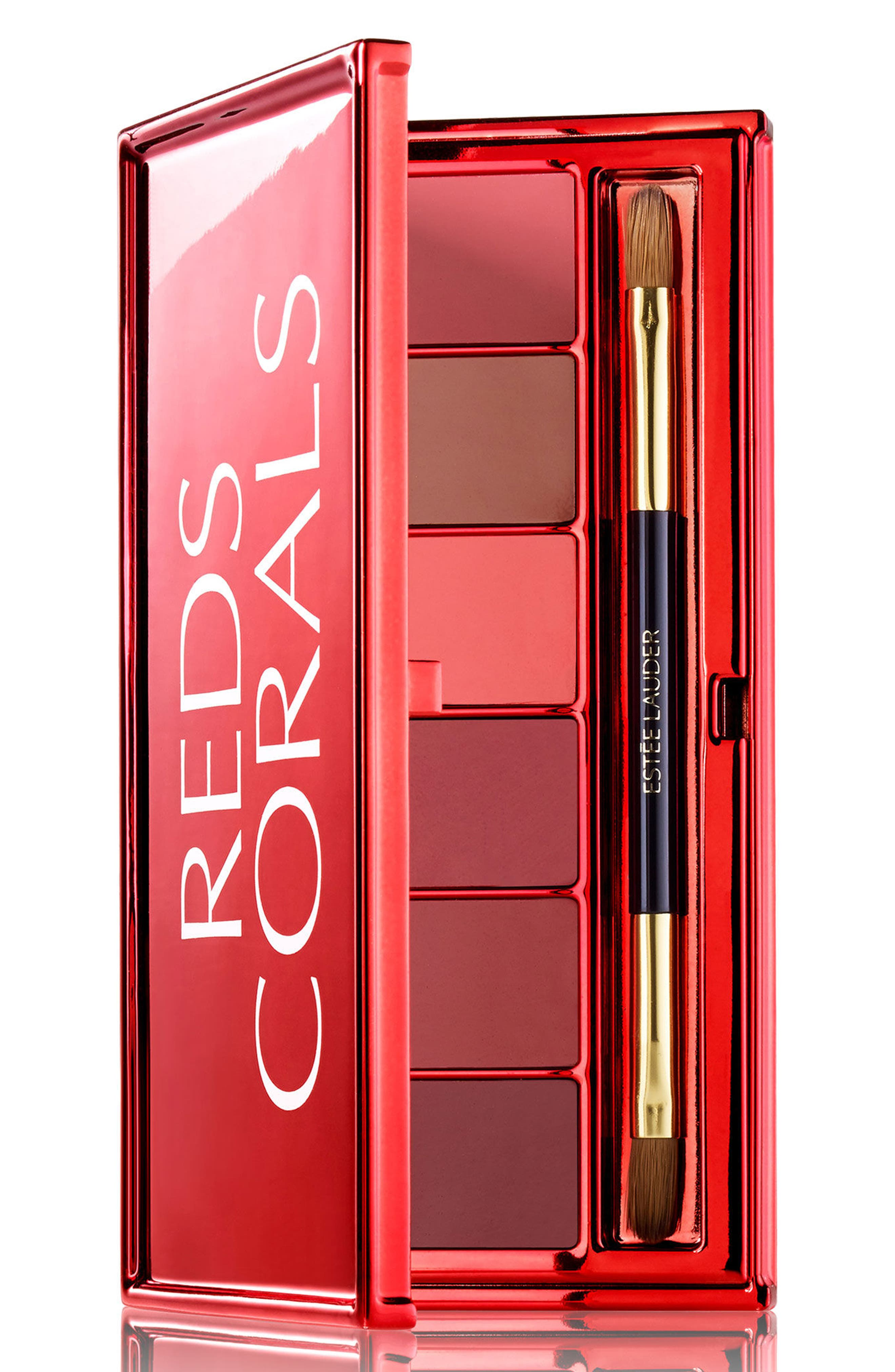 Red + Corals Lip Palette,                             Main thumbnail 1, color,                             No Color