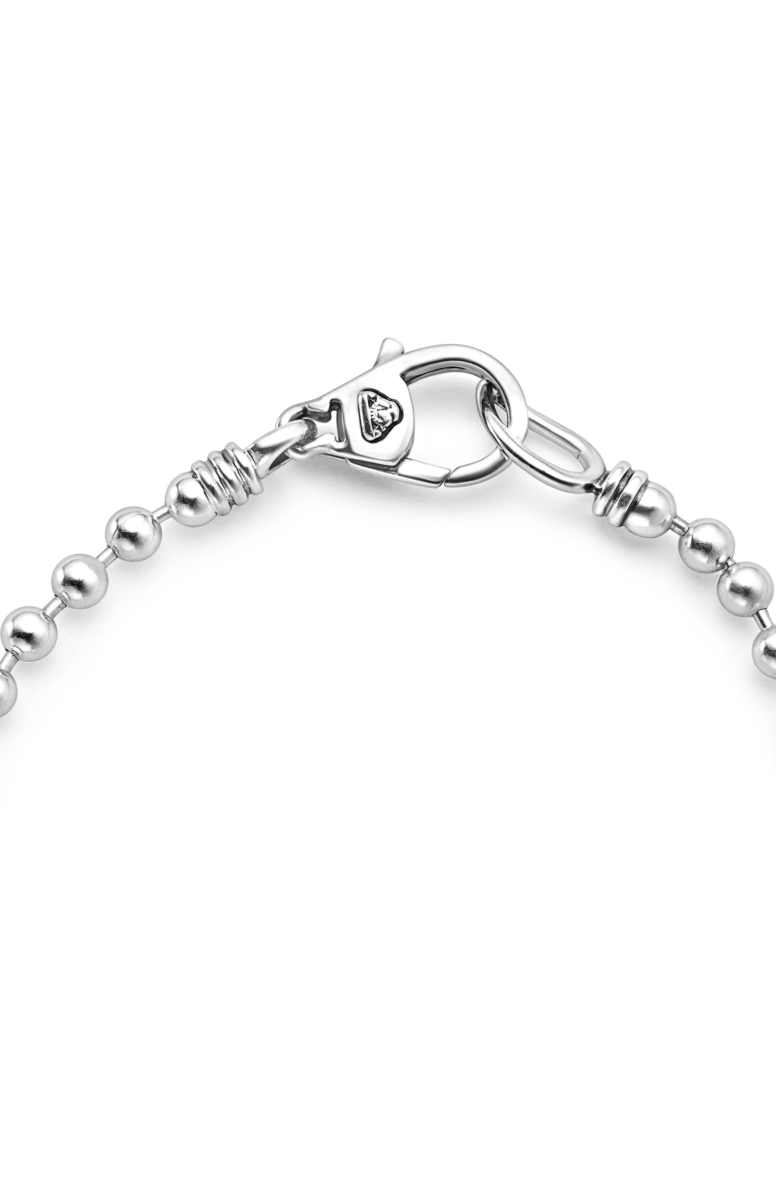Caviar Spark Diamond Bracelet,                             Alternate thumbnail 2, color,                             Silver/ Diamond
