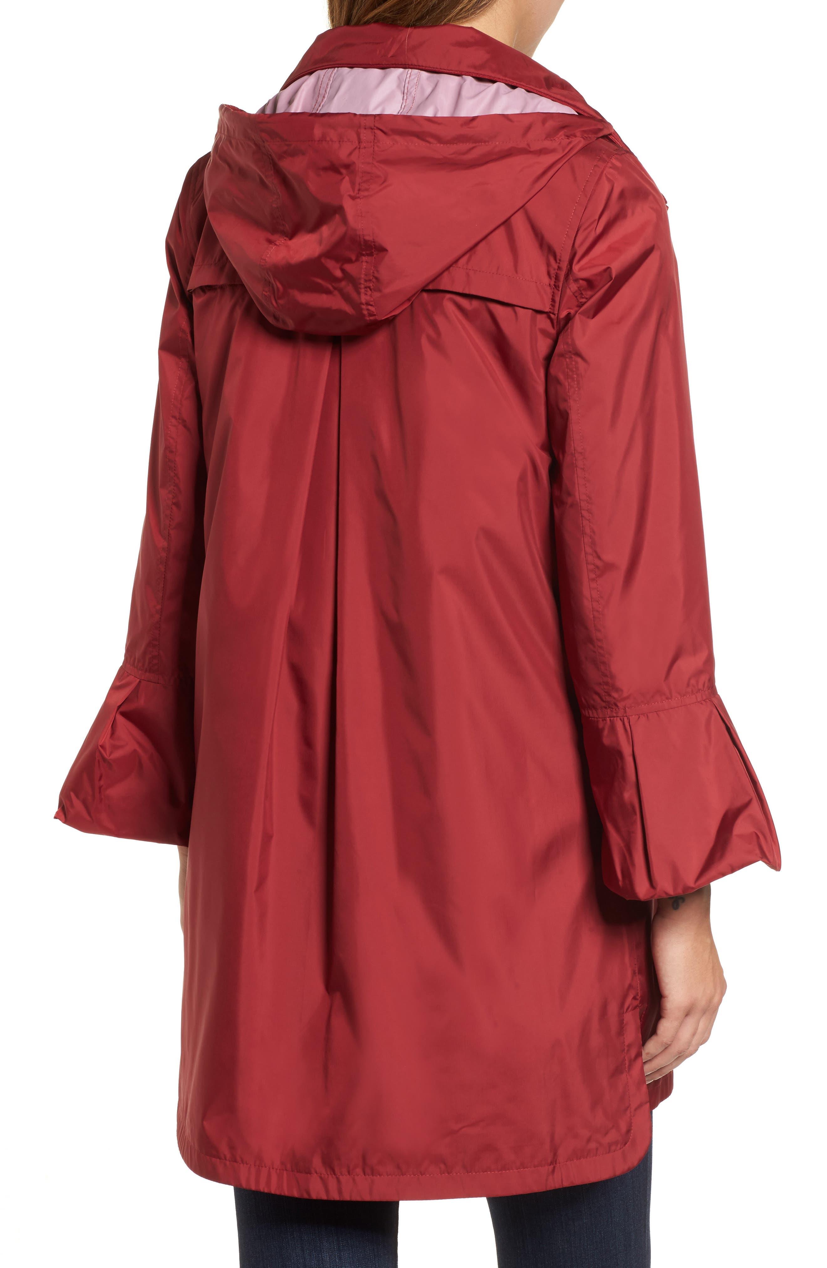Flare Sleeve Packable Swing Jacket,                             Alternate thumbnail 2, color,                             Garnet