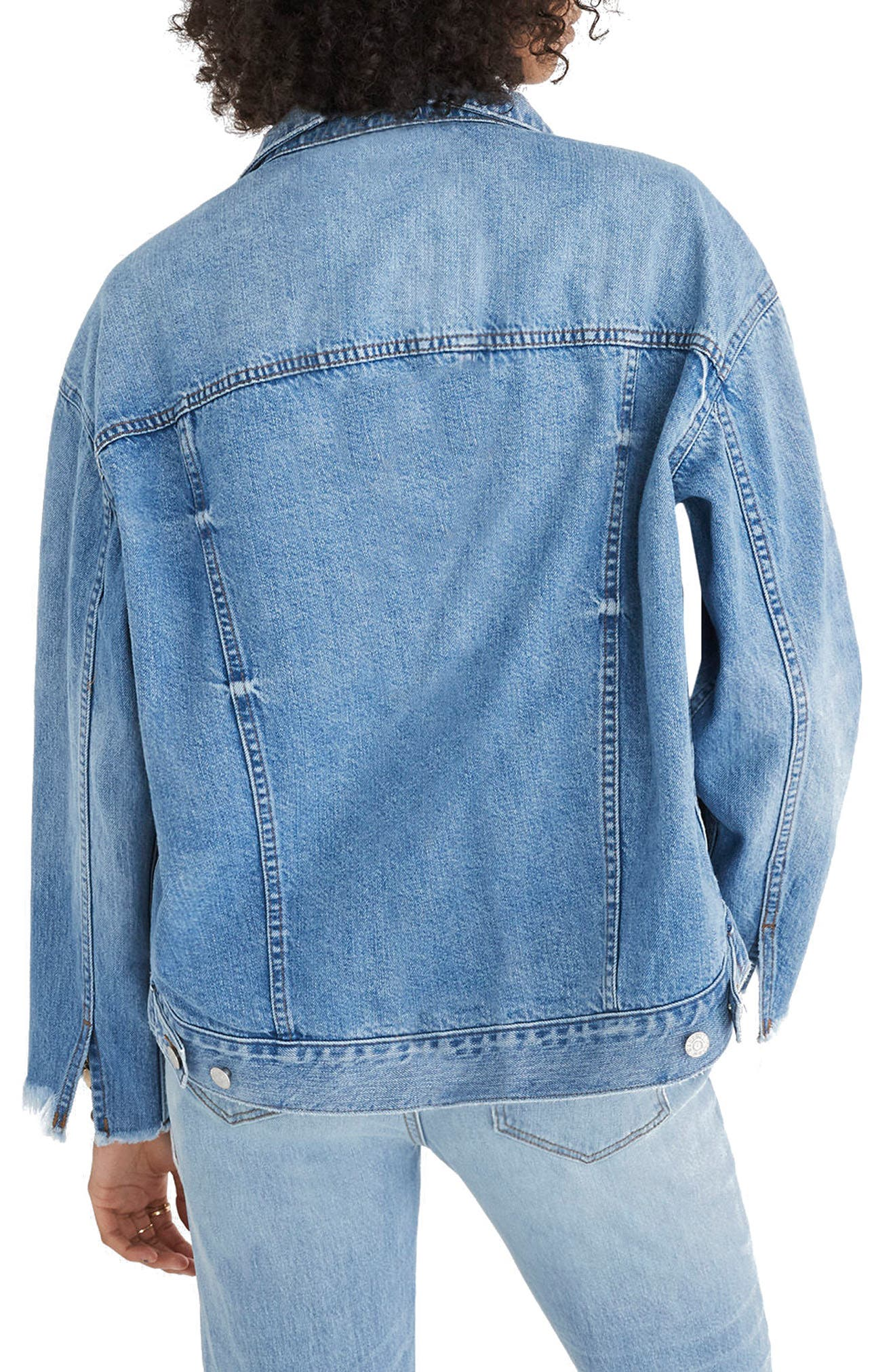 Reconstructed Jean Jacket,                             Alternate thumbnail 3, color,                             Beecher Wash