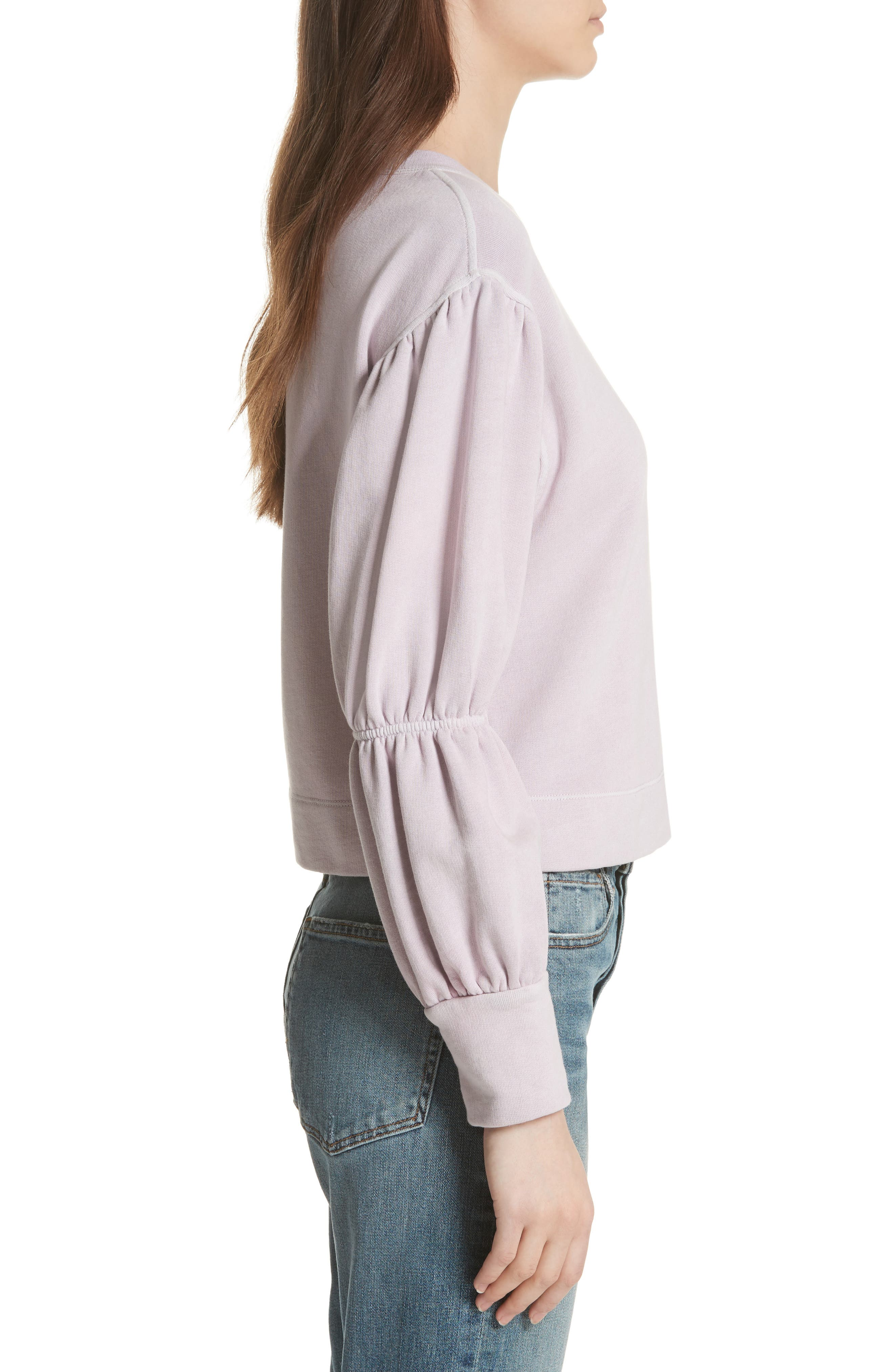 French Terry Pullover,                             Alternate thumbnail 3, color,                             Lilac Dust