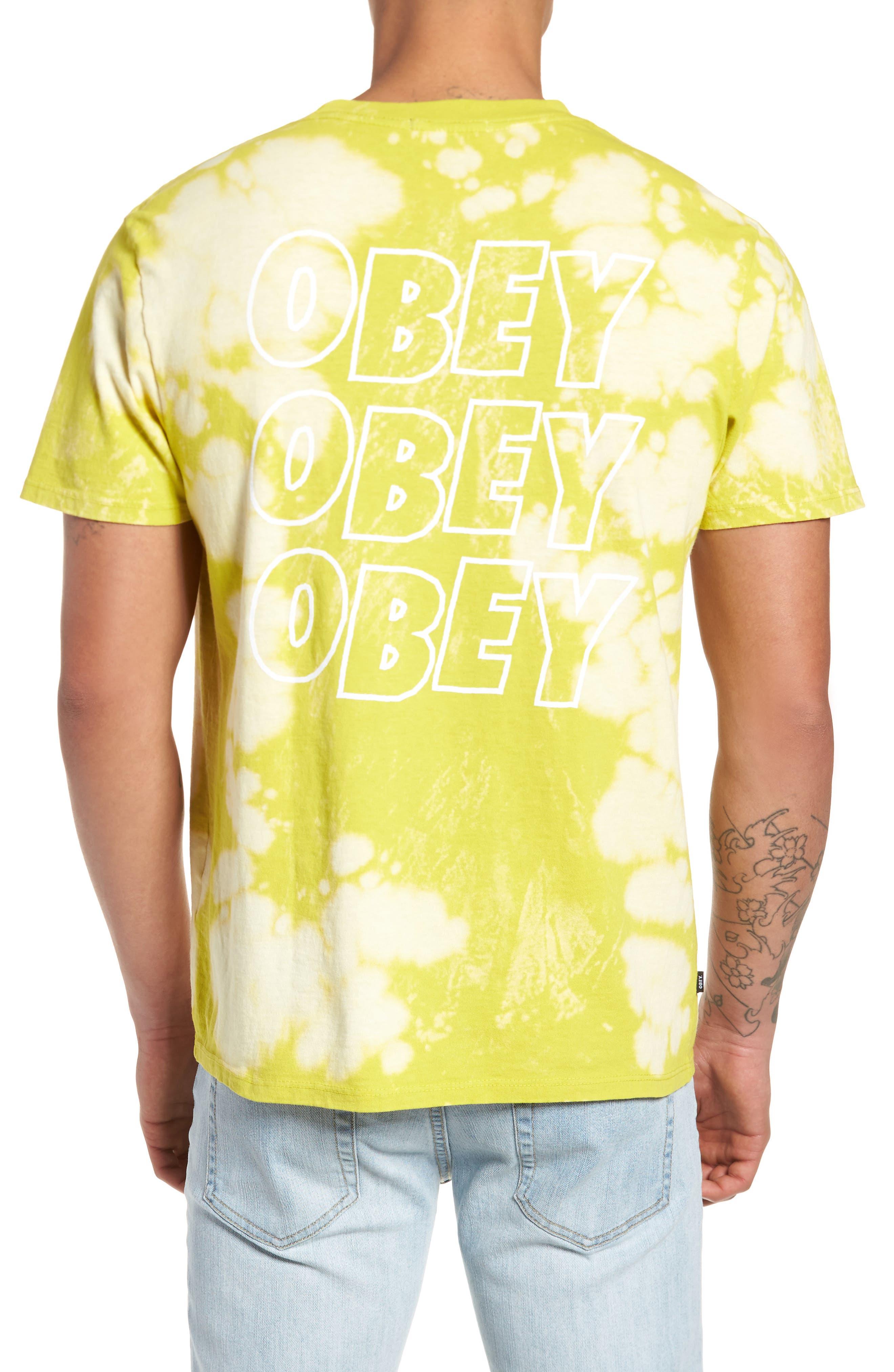 Jumble Lo-Fi Bleach Tie Dye T-Shirt,                             Alternate thumbnail 2, color,                             Safety Green