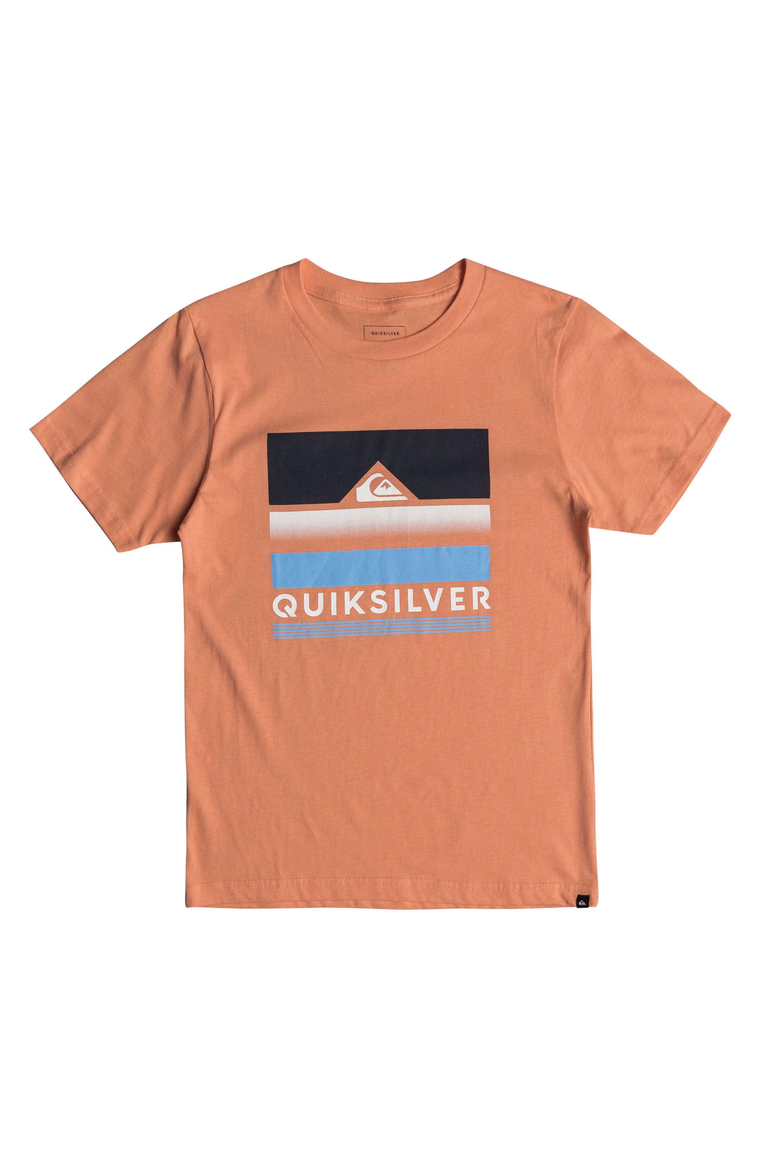 Loud Places Graphic T-Shirt,                             Main thumbnail 1, color,                             Cadmium Orange