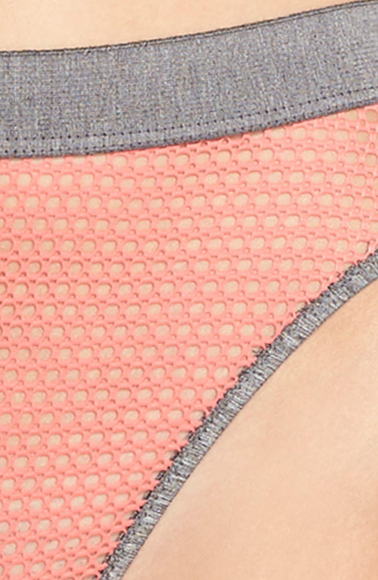 Myah High Leg Bikini,                             Alternate thumbnail 8, color,                             Moroccan Rose/ Heath Gray