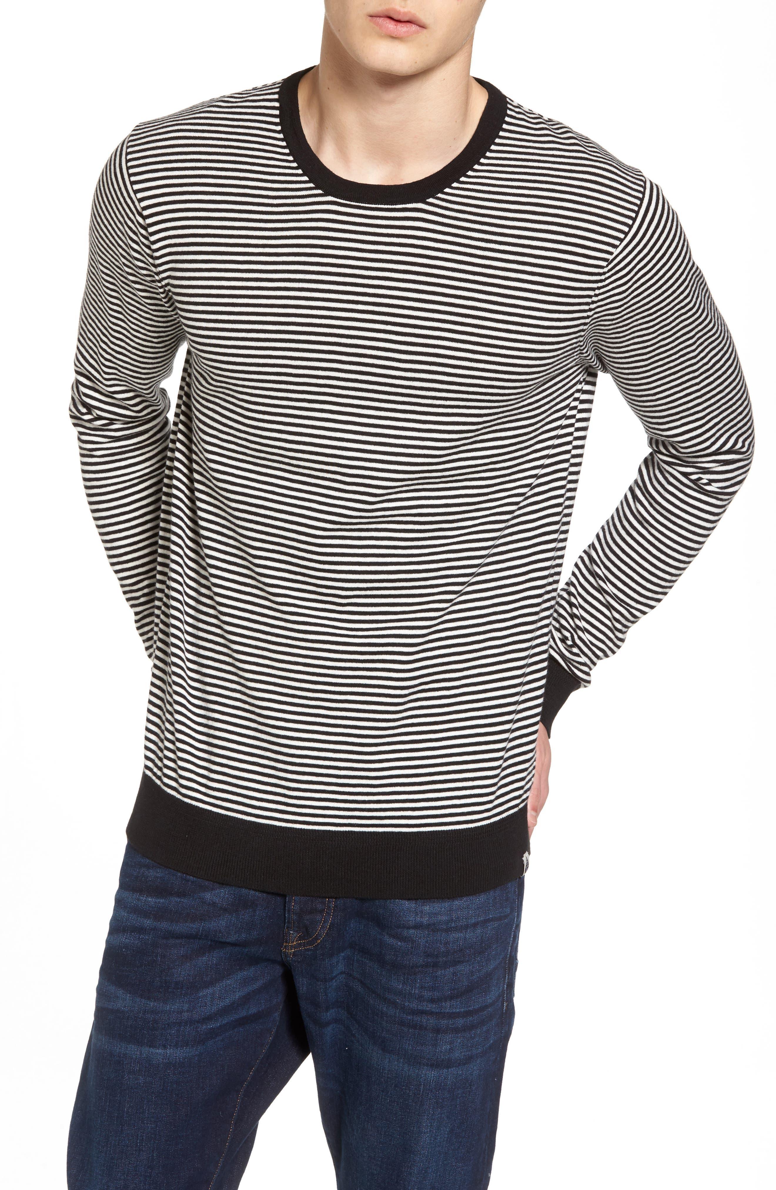 Blauw T-Shirt,                         Main,                         color, Black/ Black