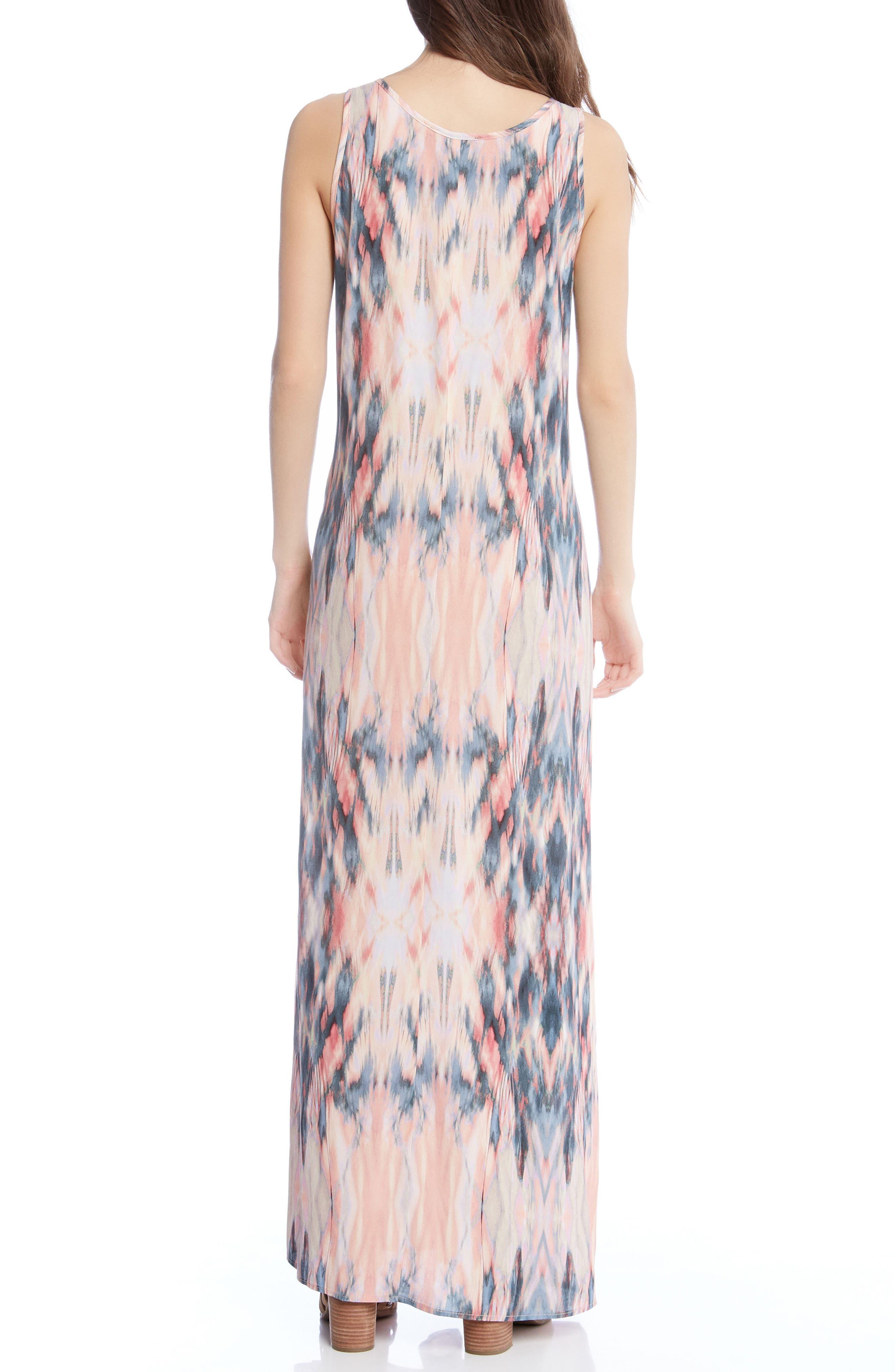 Side Slit Maxi Dress,                             Alternate thumbnail 3, color,                             Print