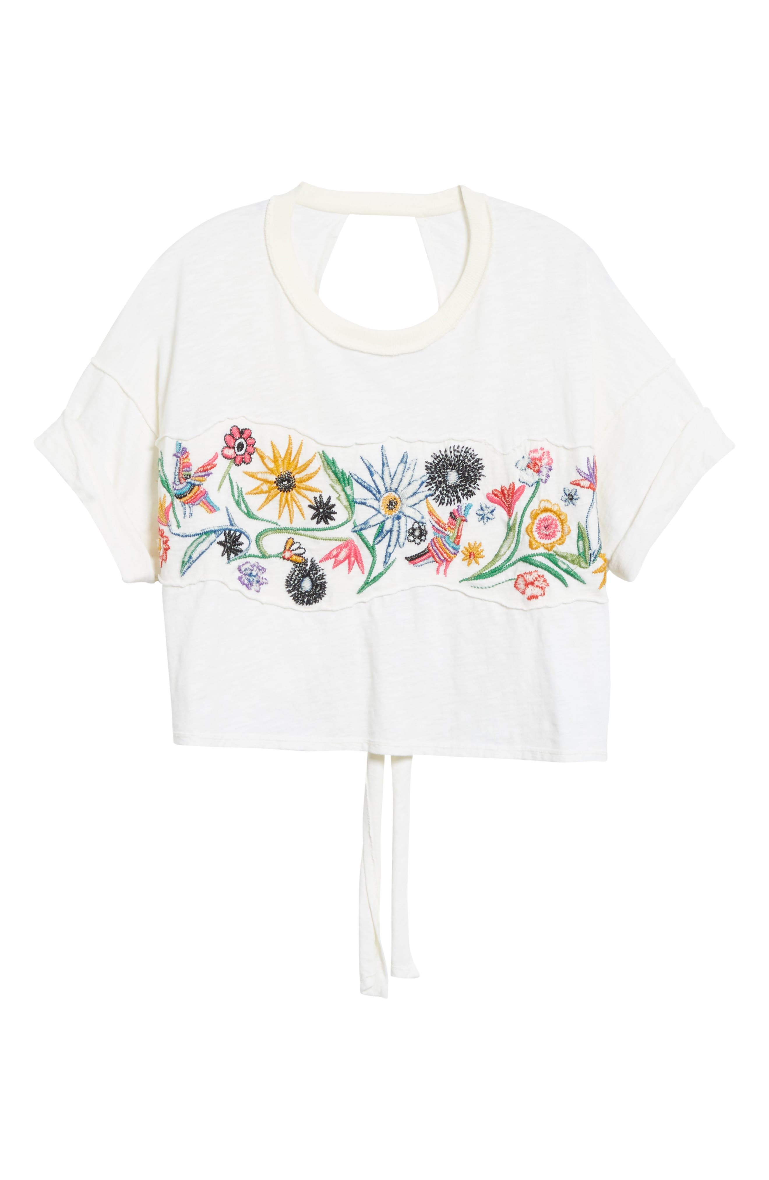 Alternate Image 6  - Free People Garden Time Embroidered Tee