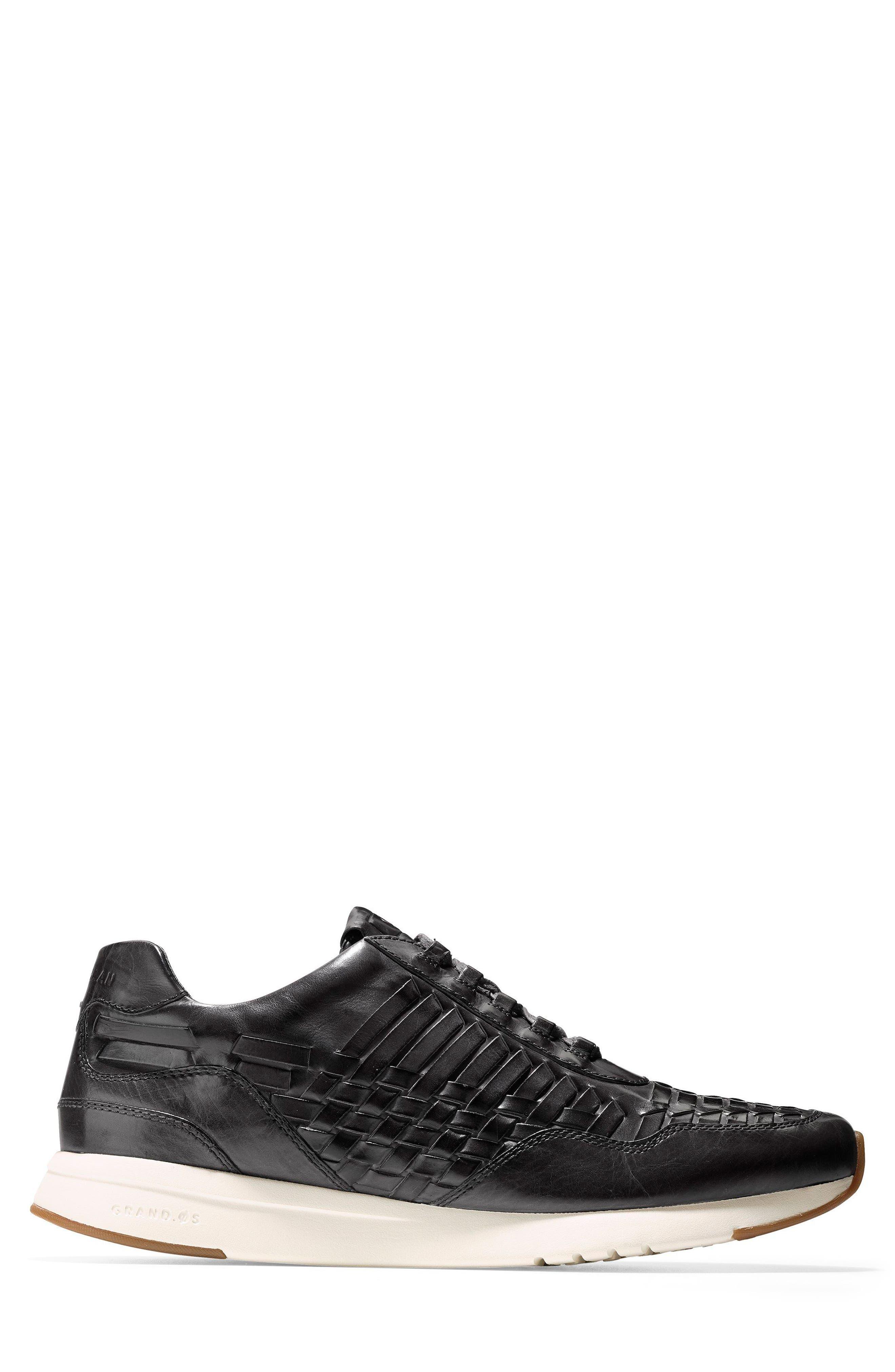 GrandPrø Runner Huarache Sneaker,                             Alternate thumbnail 3, color,                             Magnet Woven Burnish