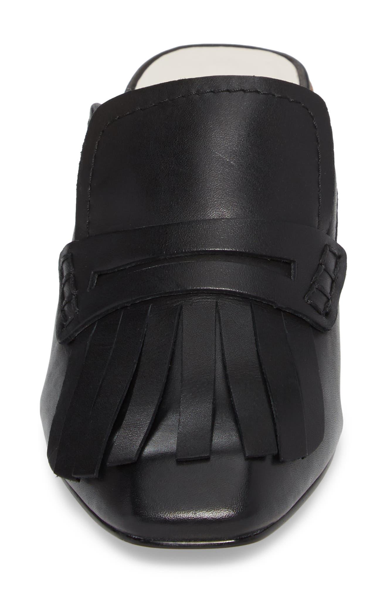 Katina Mule,                             Alternate thumbnail 4, color,                             Black Leather