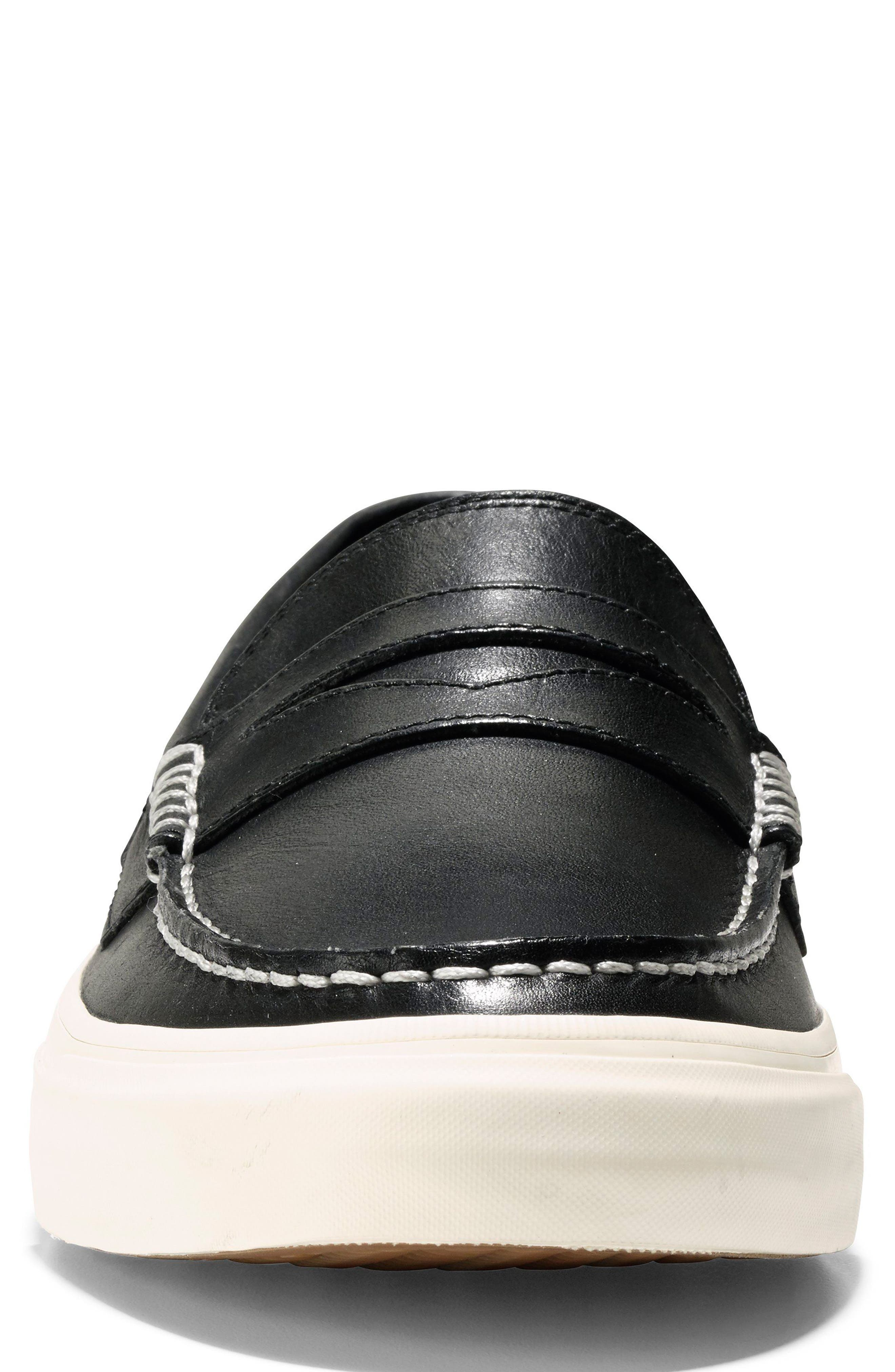 Pinch Weekend LX Penny Loafer,                             Alternate thumbnail 4, color,                             Black/ White