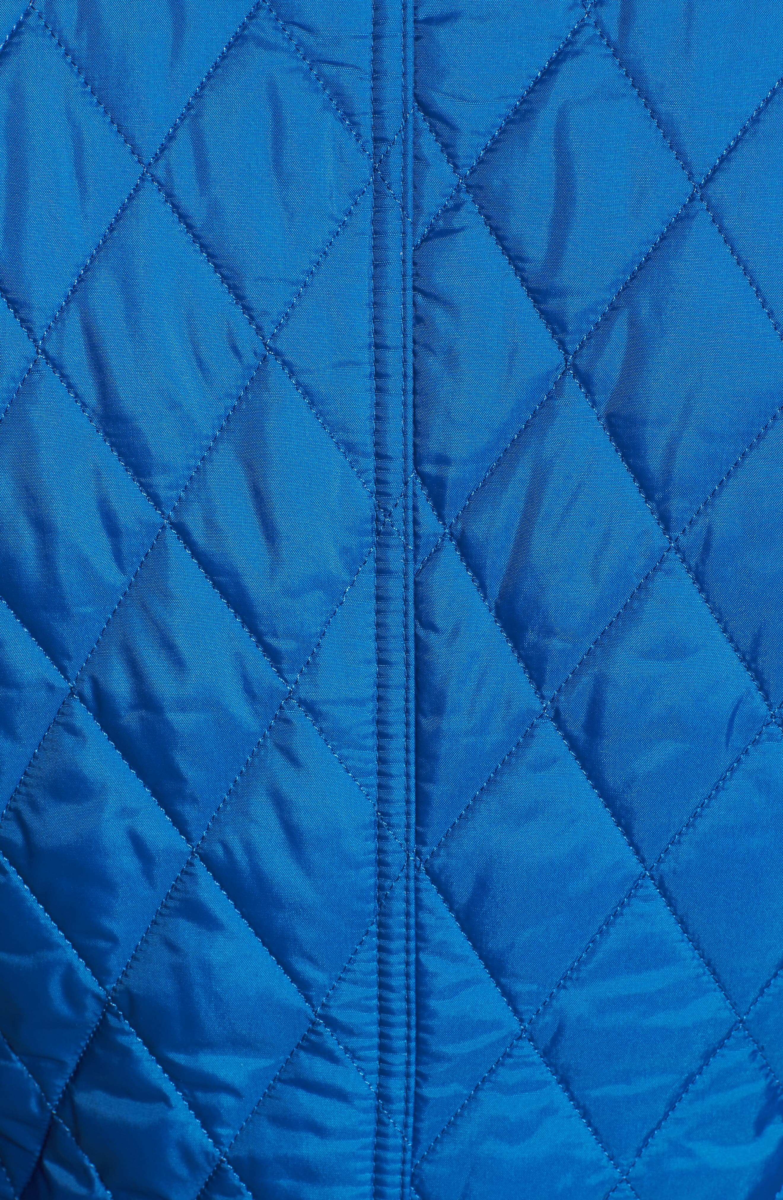 'Beadnell - Summer' Quilted Jacket,                             Alternate thumbnail 5, color,                             Victoria Blue