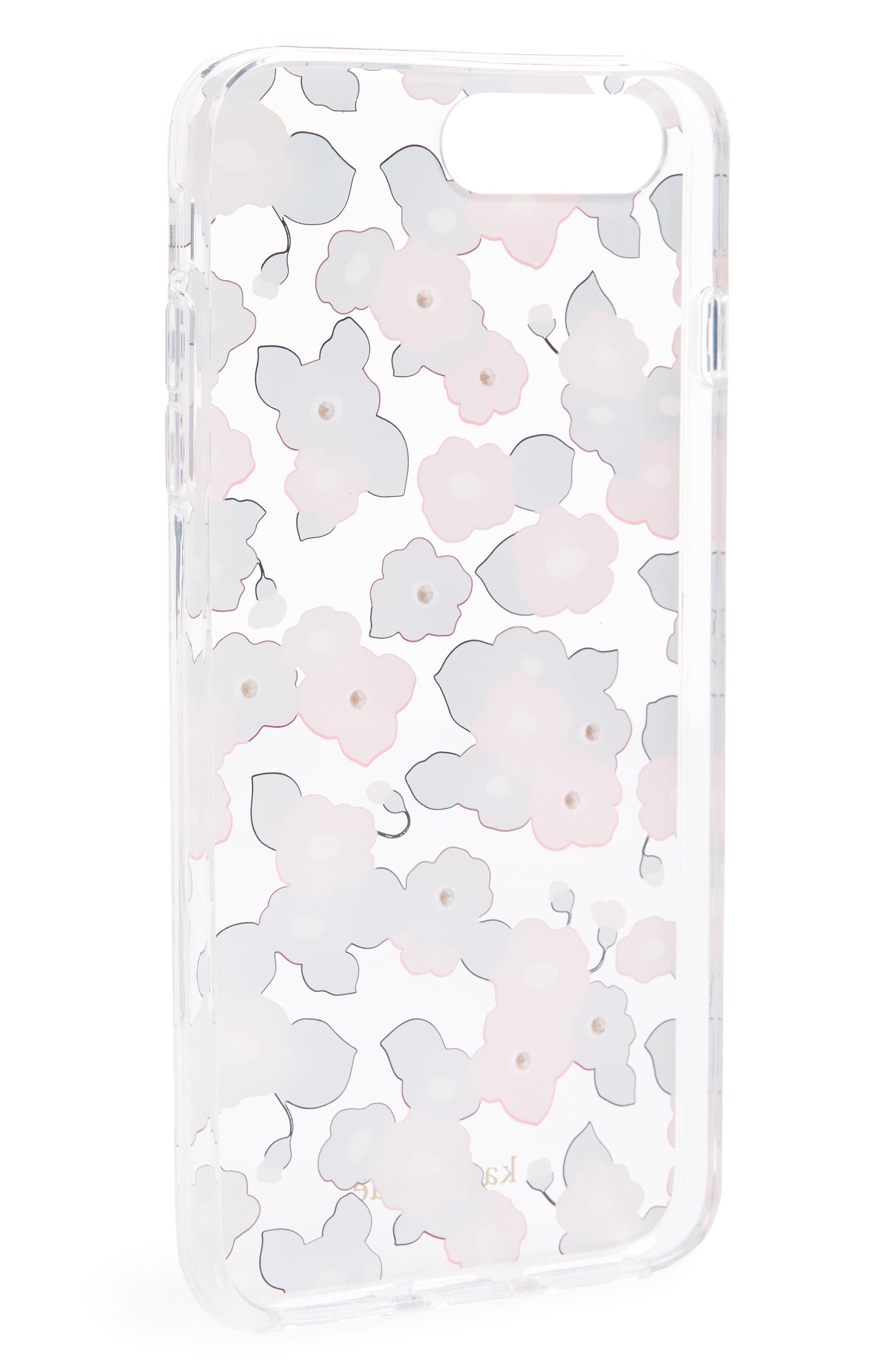 jeweled small blooms iPhone 7/8 & 7/8 Plus case,                             Alternate thumbnail 2, color,                             Clear Multi