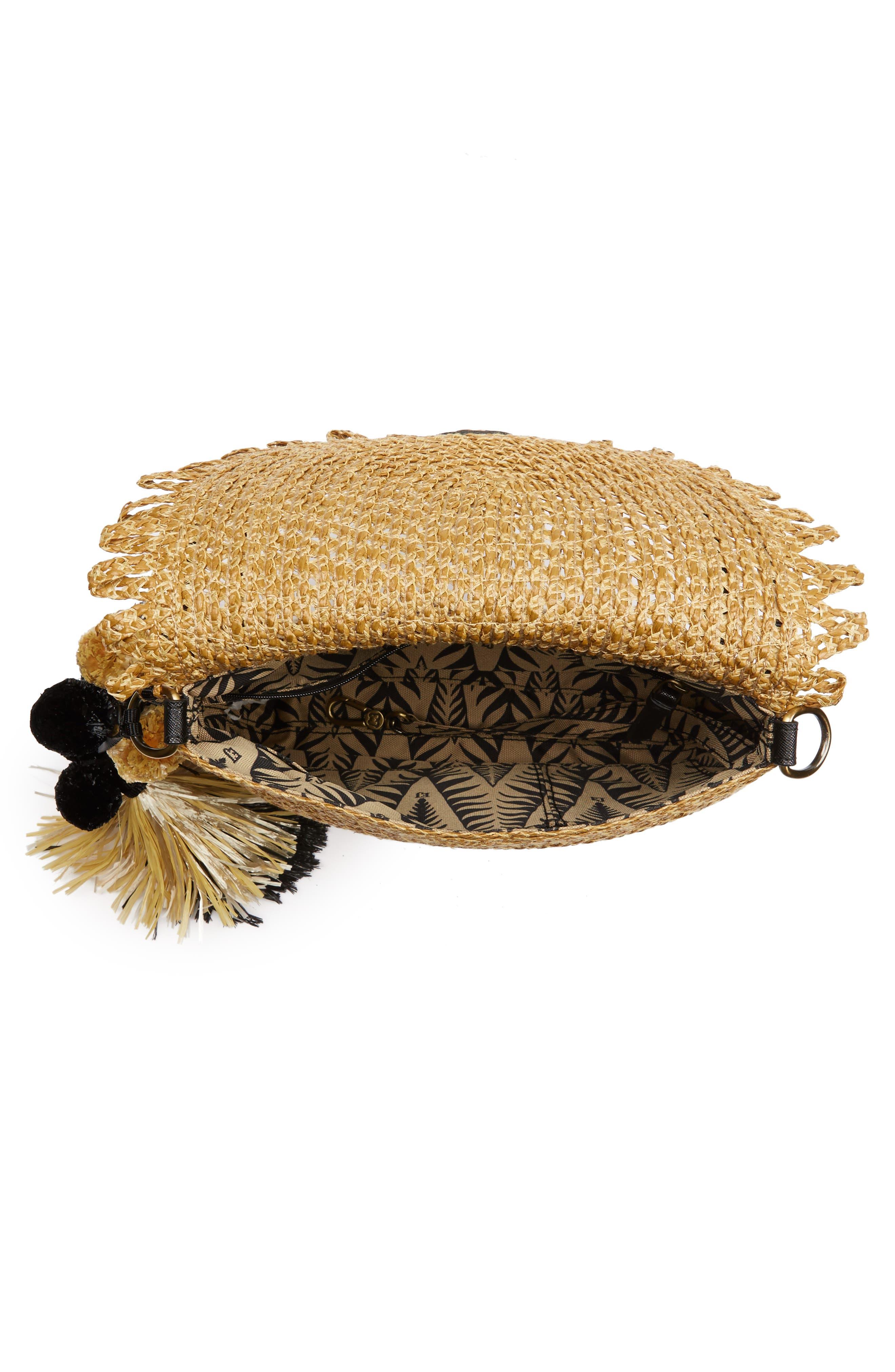 Brigitte Squishee<sup>®</sup> Shoulder Bag,                             Alternate thumbnail 4, color,                             Natural/ Black