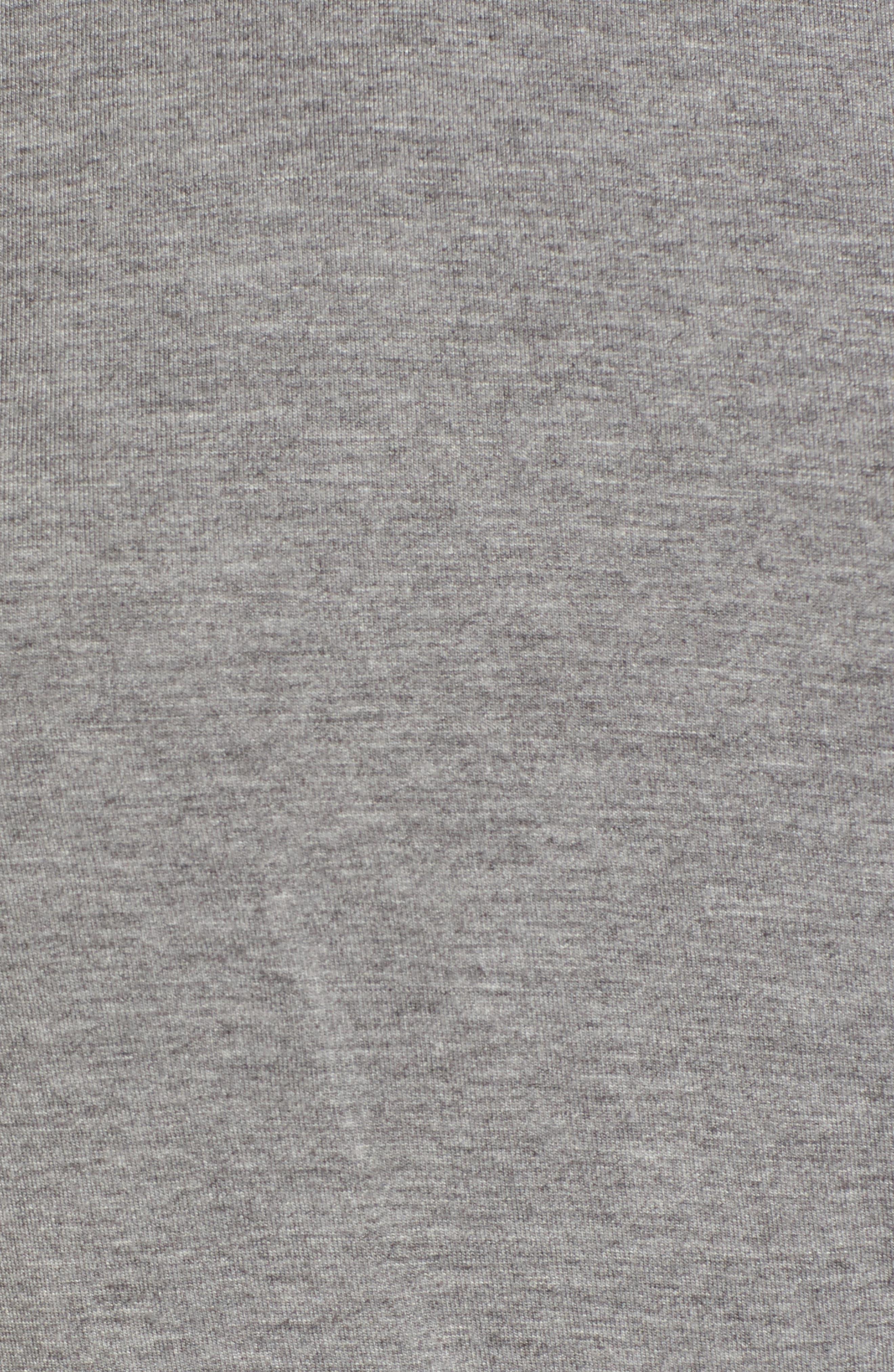 Off-Duty Shirred Sleeveless Tee,                             Alternate thumbnail 5, color,                             Grey Heather