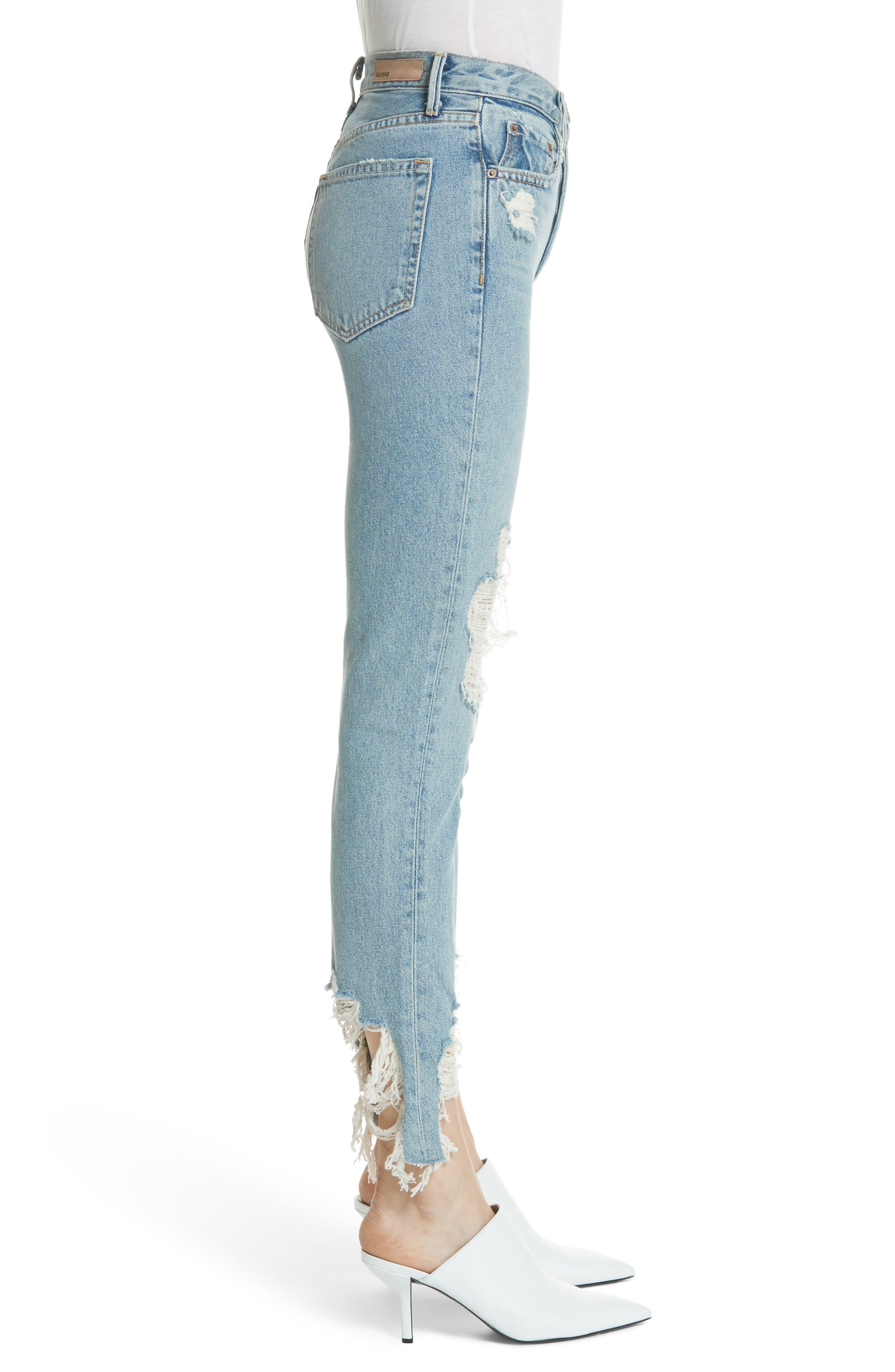 Karolina High Waist Jeans,                             Alternate thumbnail 3, color,                             Tough Love G538