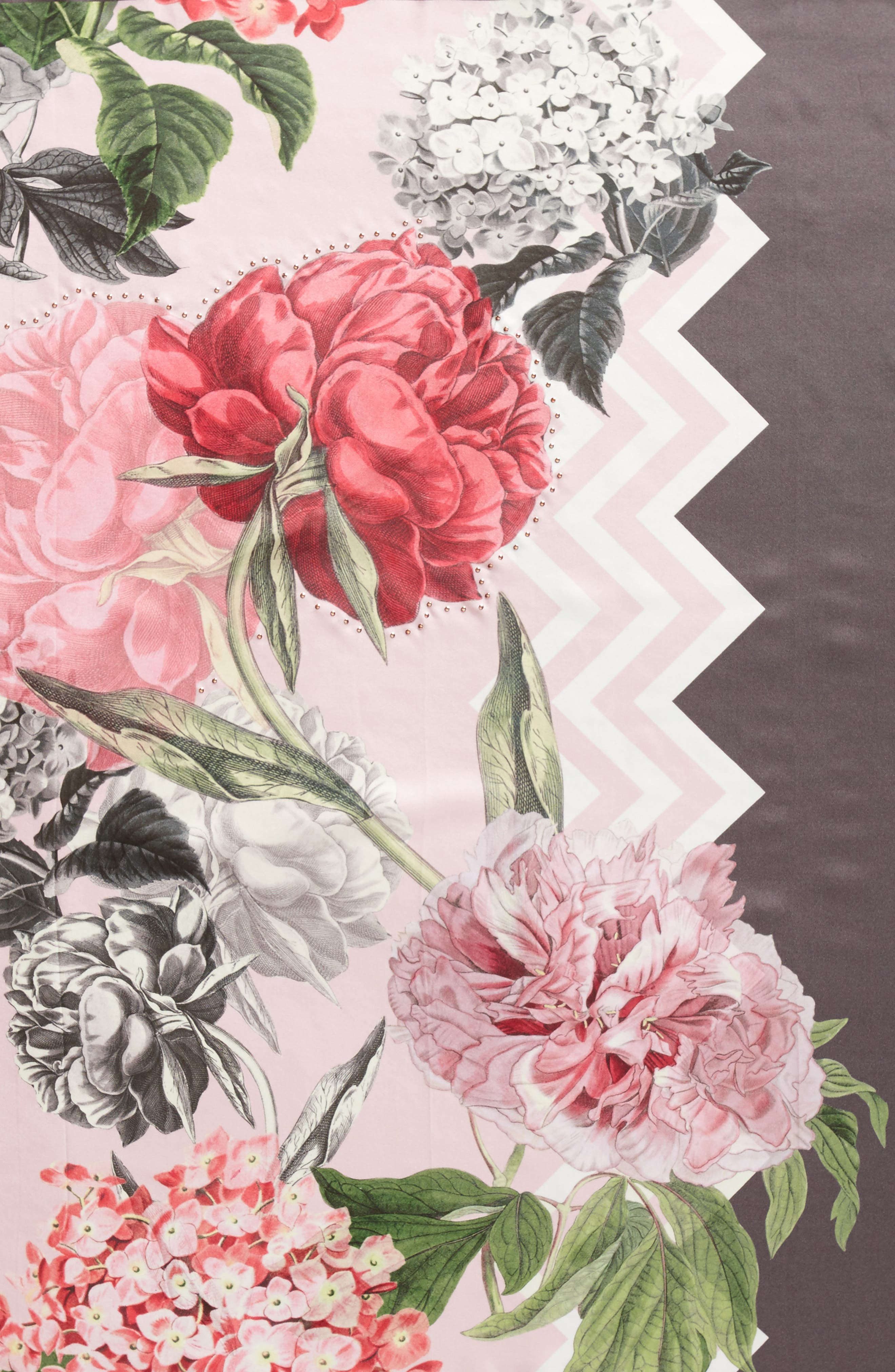 Palace Gardens Square Silk Scarf,                             Alternate thumbnail 4, color,                             Dusky Pink