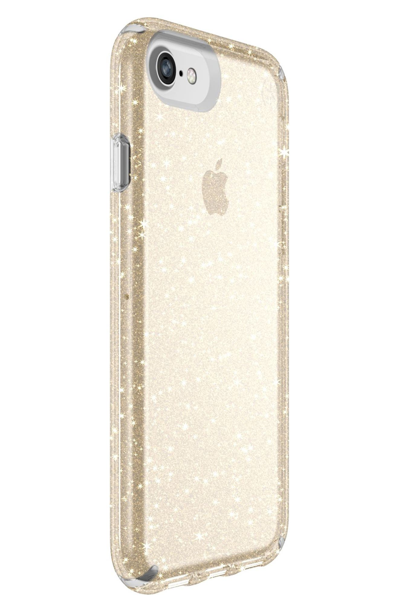 iPhone 6/6s/7/8 Case,                             Alternate thumbnail 2, color,                             Clear With Gold Glitter/ Clear
