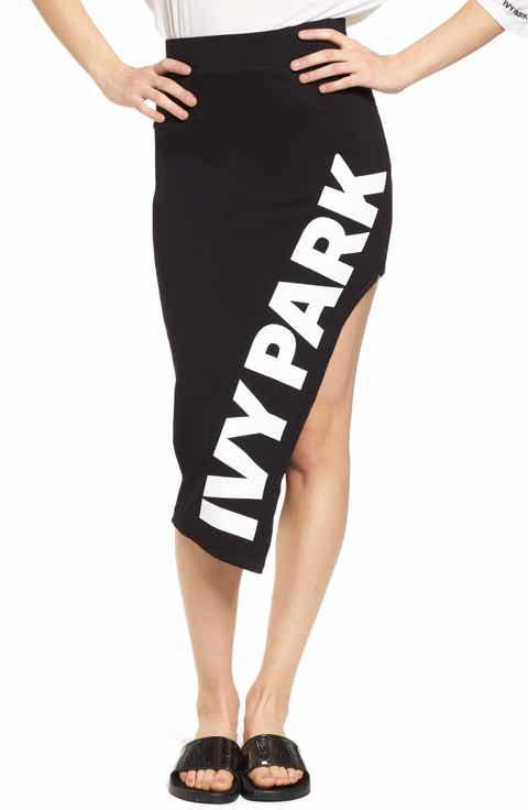 IVY PARK® Logo Cutaway Side Pencil Skirt