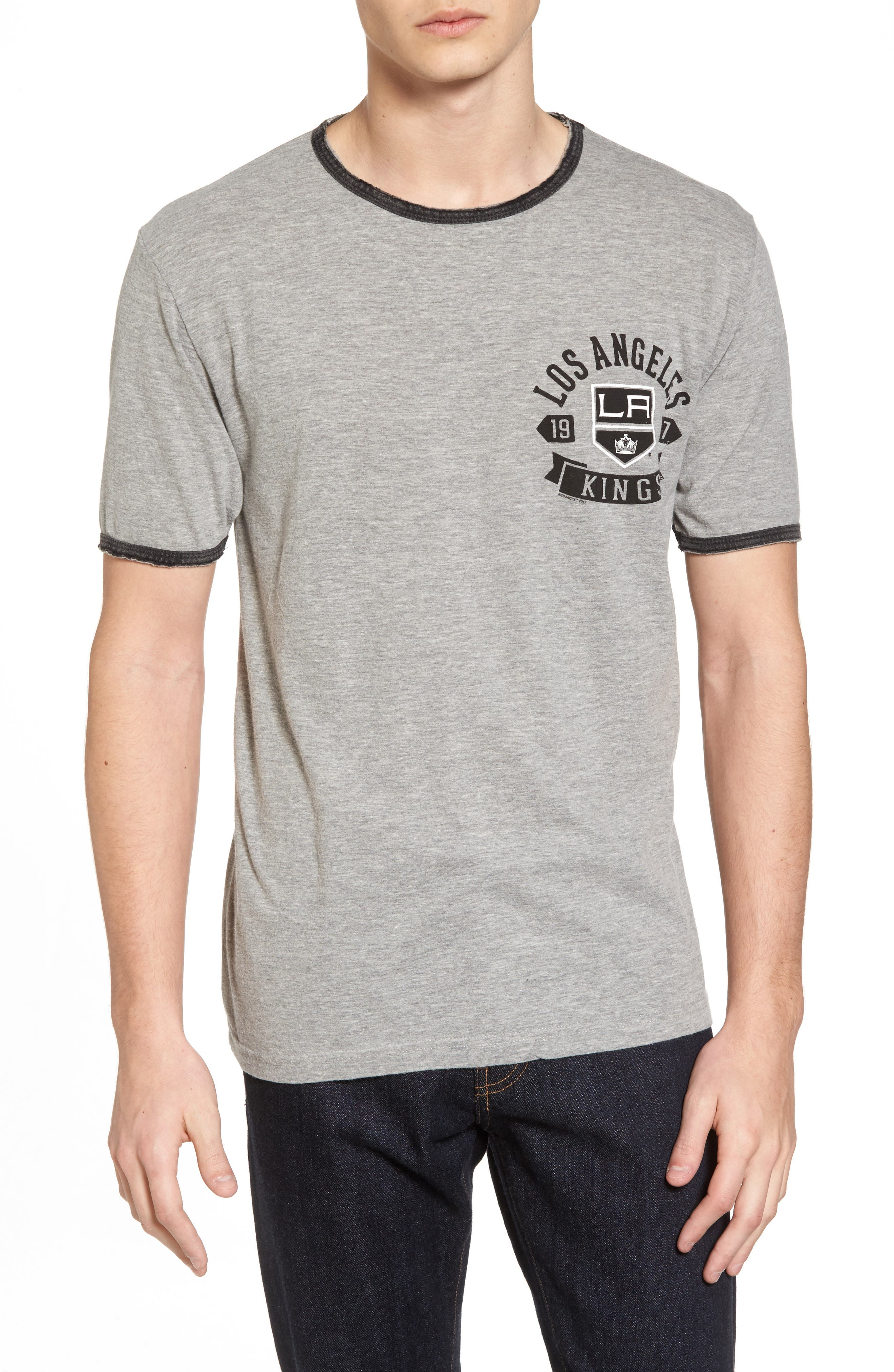 American Needle Portage Los Angeles Kings Ringer T-Shirt