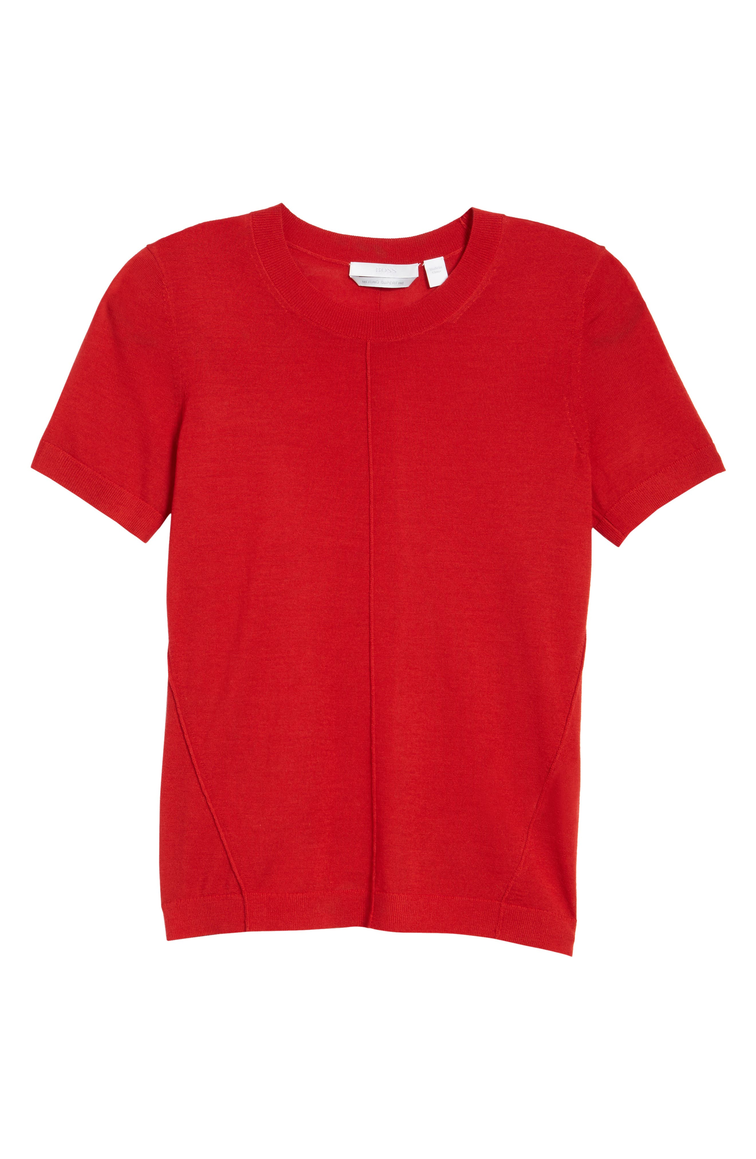 Fuyuka Wool Sweater,                             Alternate thumbnail 6, color,                             Crimson Red