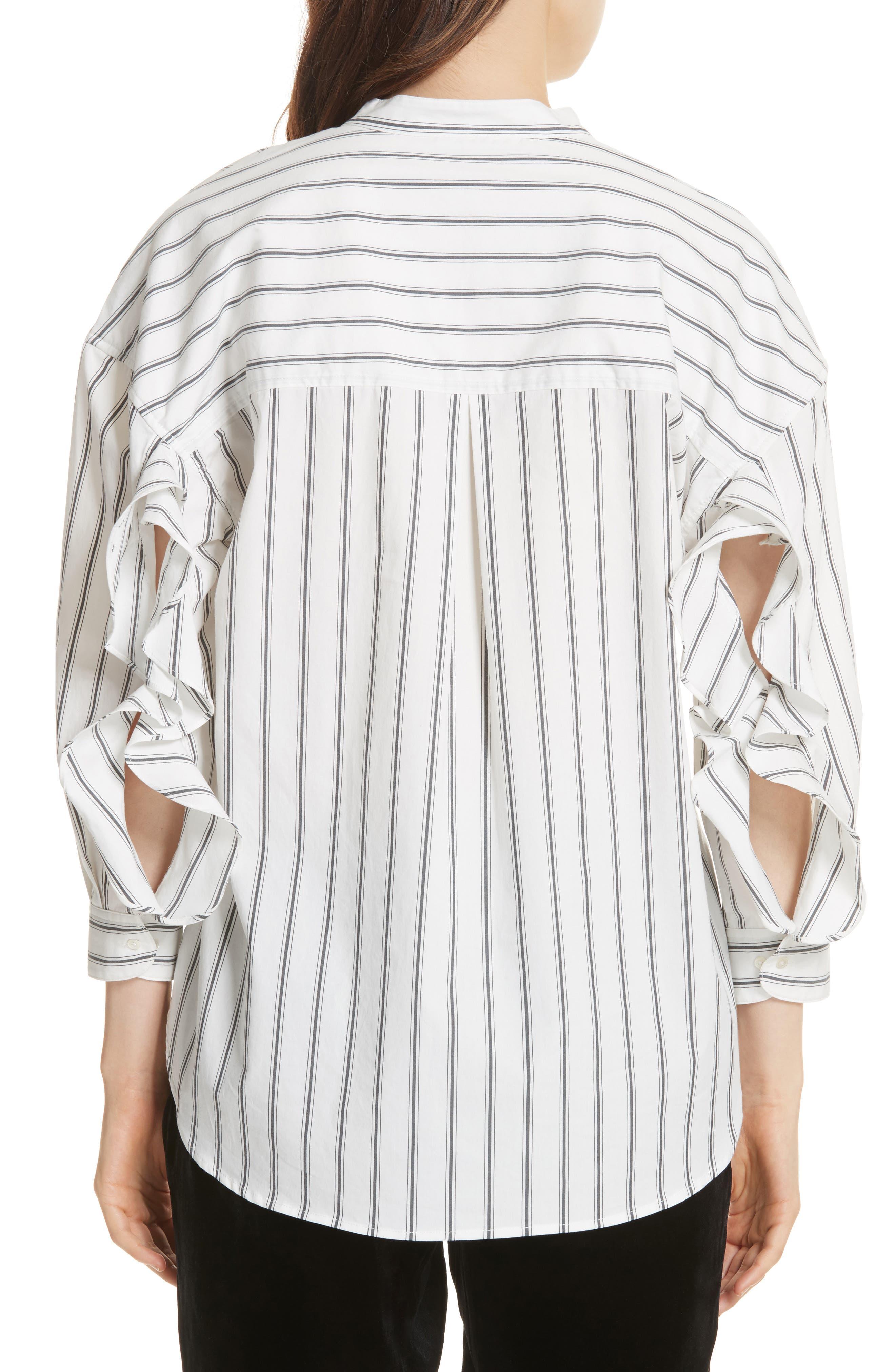 Poni Stripe Shirt,                             Alternate thumbnail 2, color,                             Porcelain