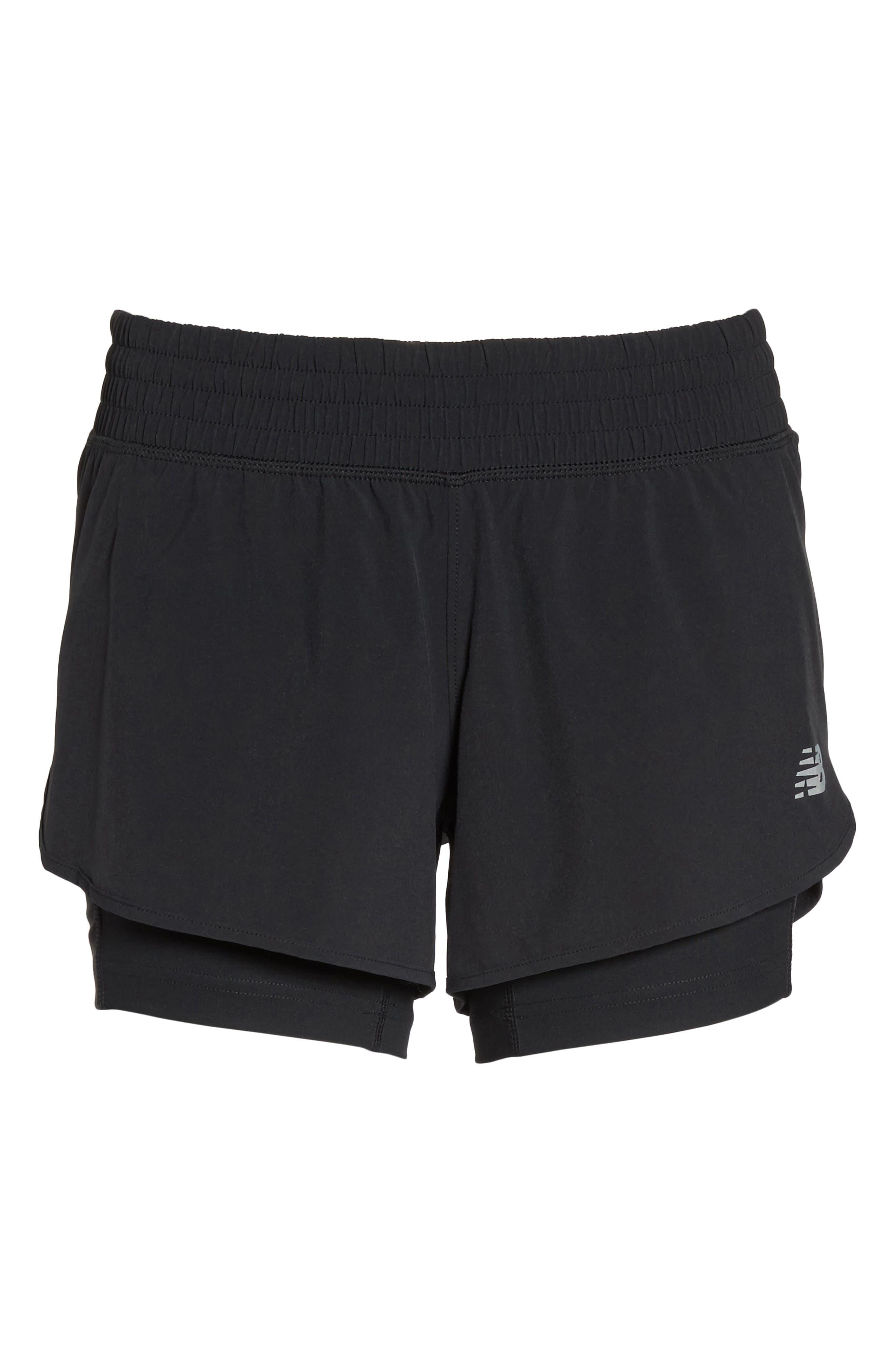 Impact Layered Running Shorts,                             Alternate thumbnail 7, color,                             Black