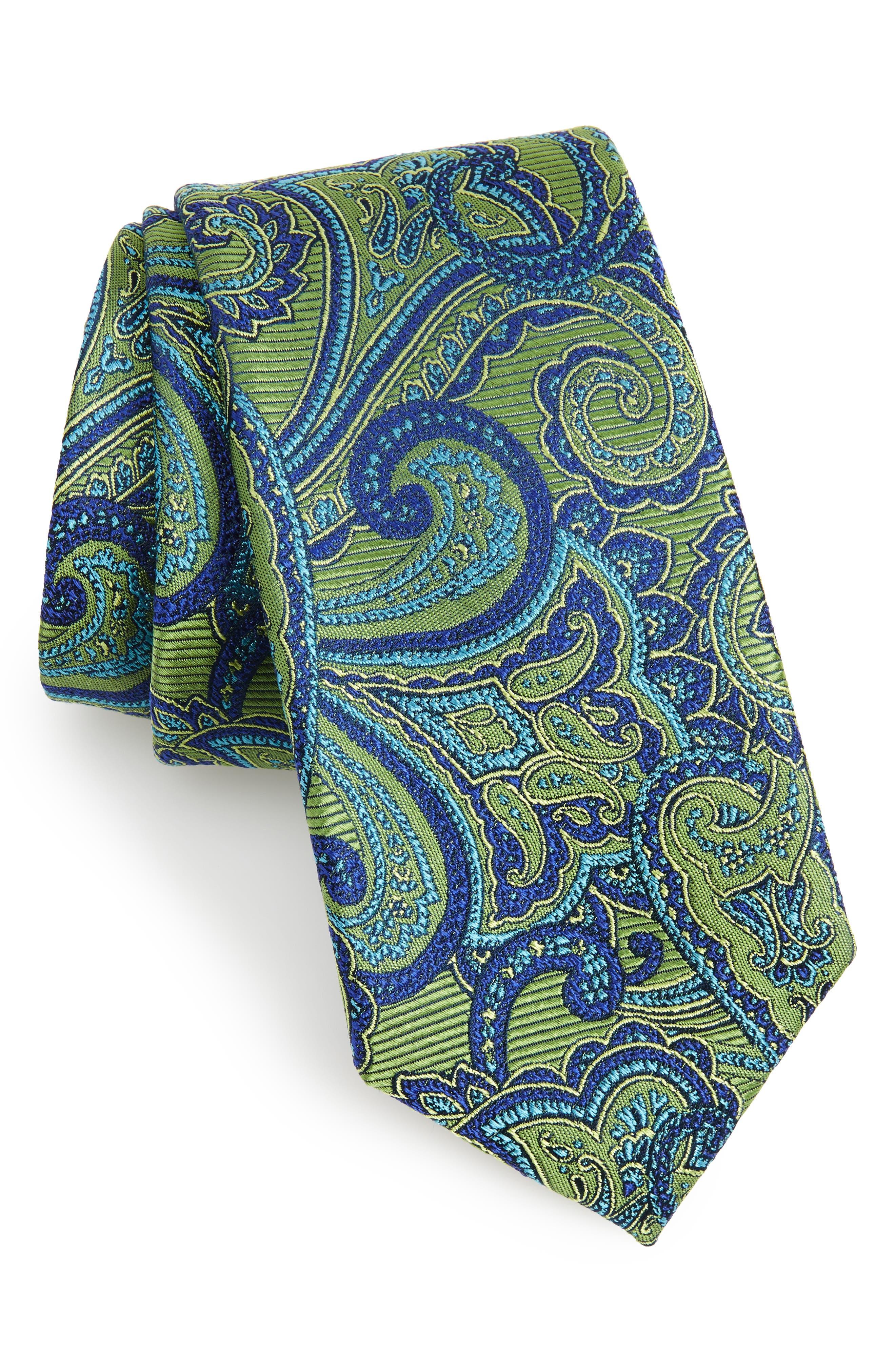 Alternate Image 1 Selected - Nordstrom Men's Shop Avalon Paisley Silk Tie