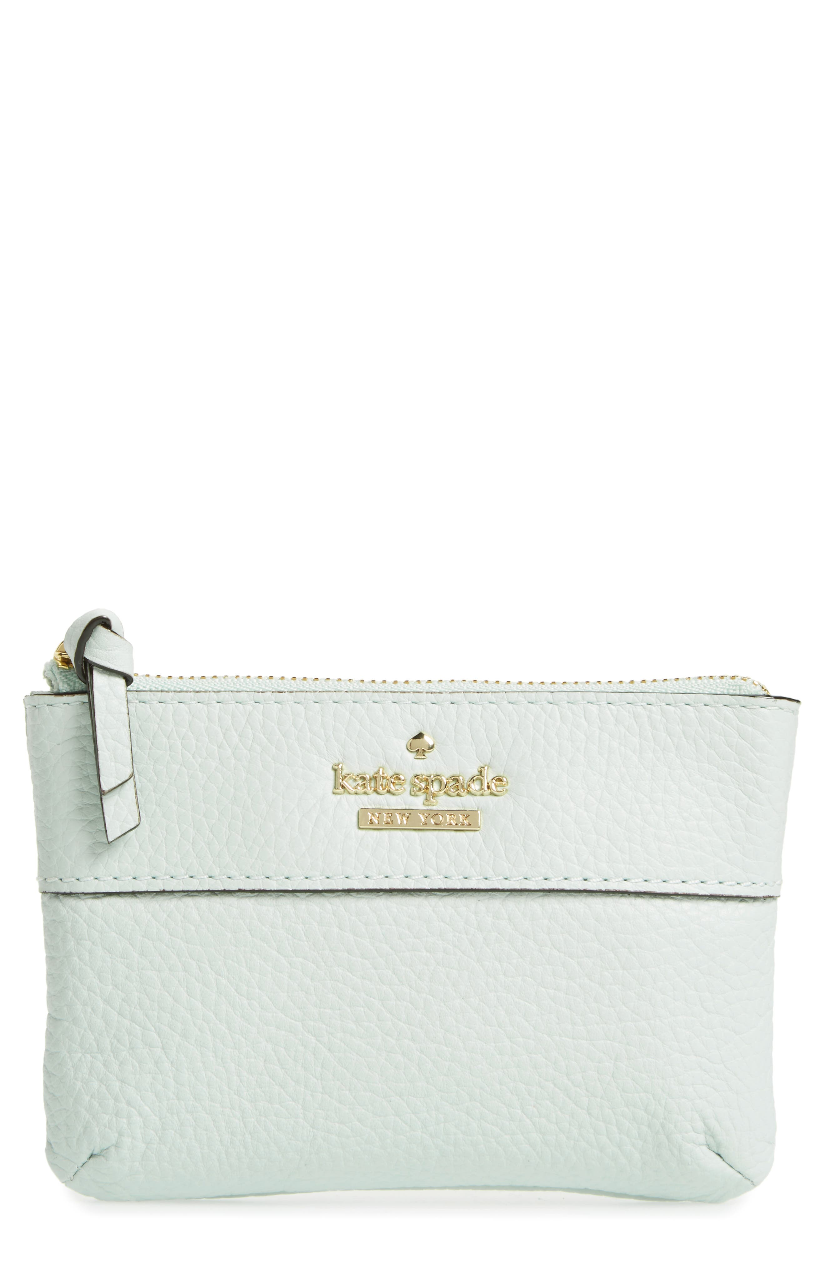 Alternate Image 1 Selected - kate spade new york jackson street mila leather zip pouch