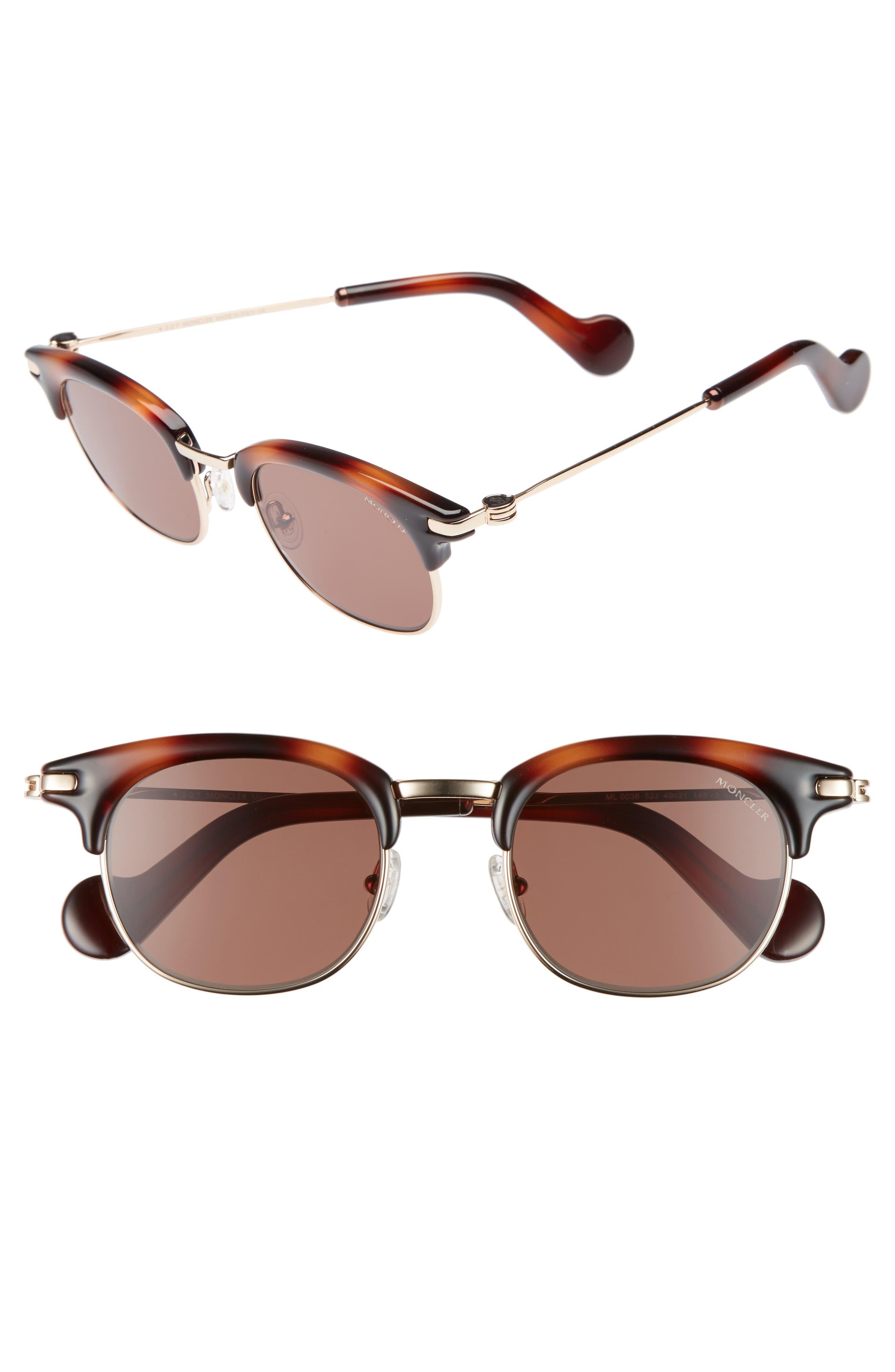 Moncler 49mm Wayfarer Sunglasses