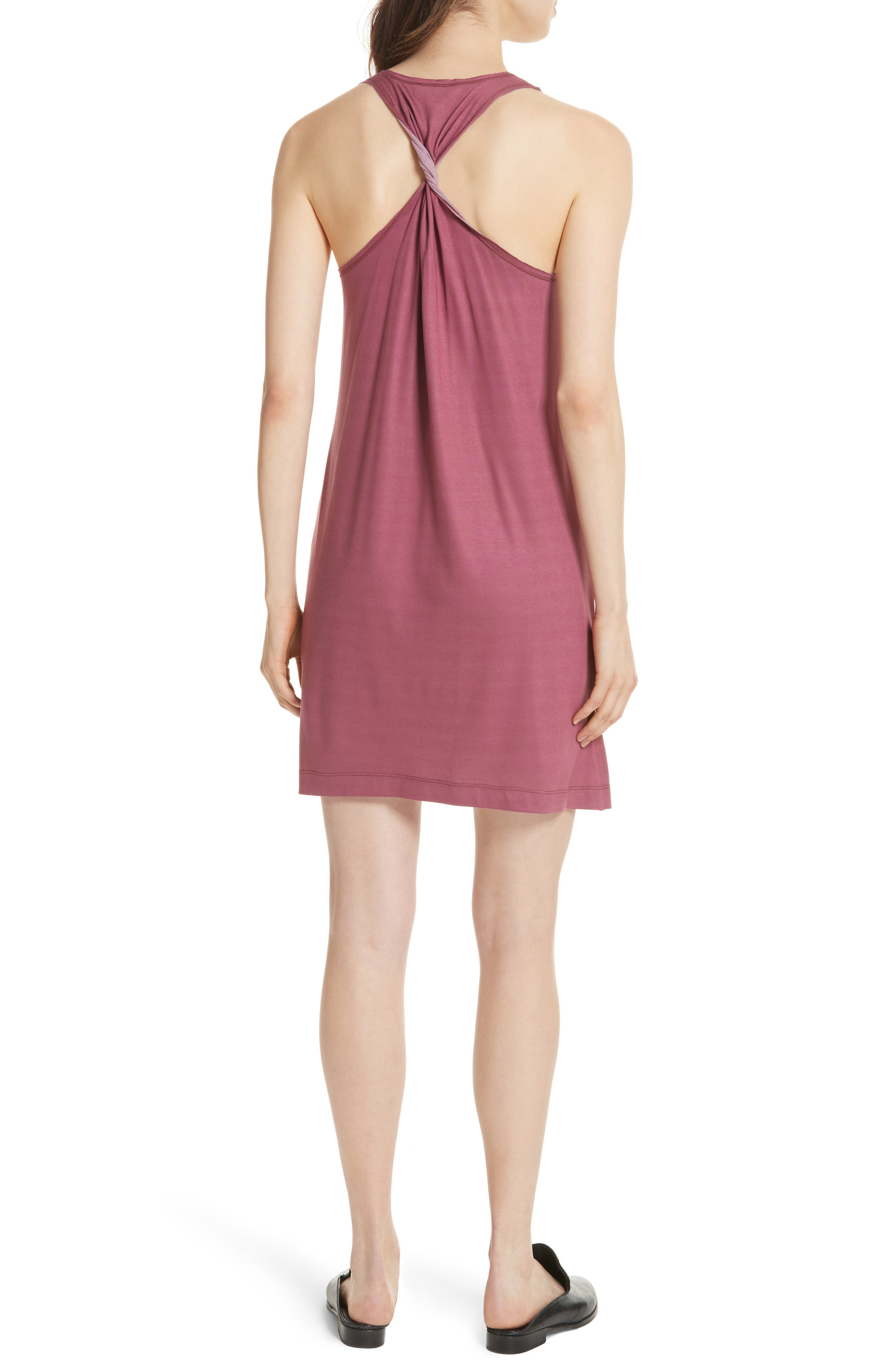 Drummond Twist Back Jersey Tank Dress,                             Alternate thumbnail 2, color,                             Grenada/ White