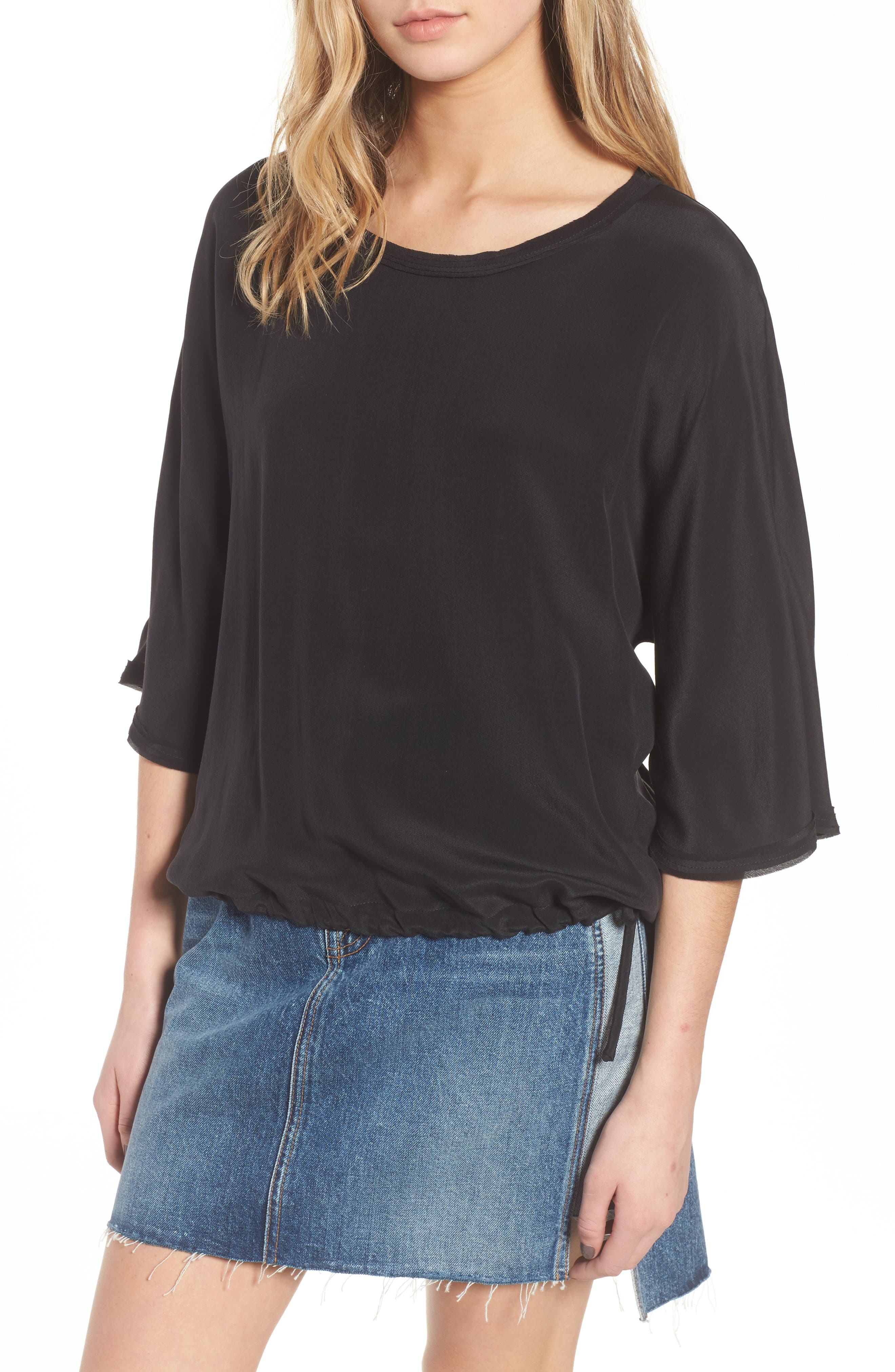 Main Image - 7 For All Mankind® Drawstring Silk Tee