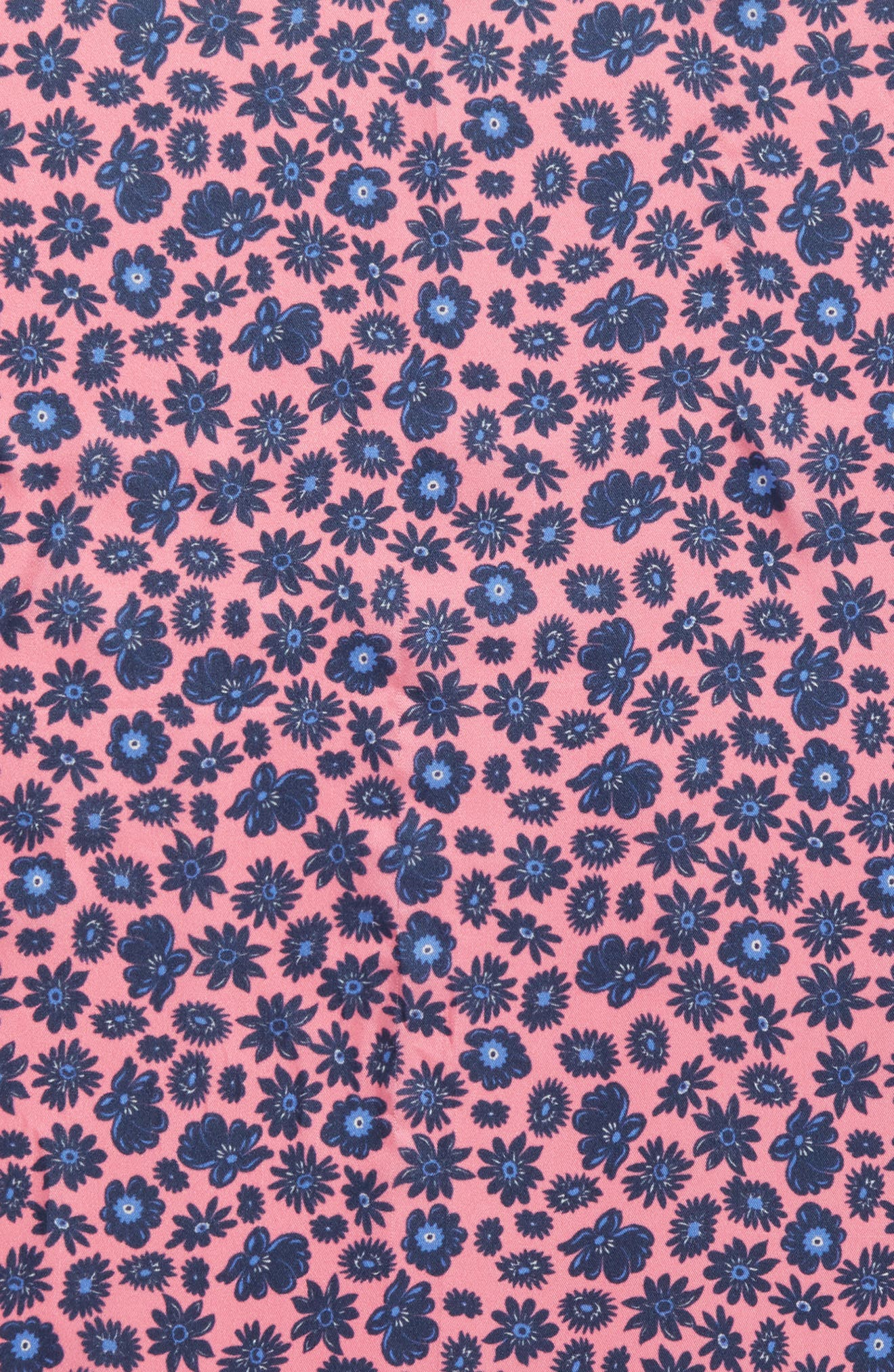 Petit Daisy Silk Bandana,                             Alternate thumbnail 4, color,                             Aurora Pink