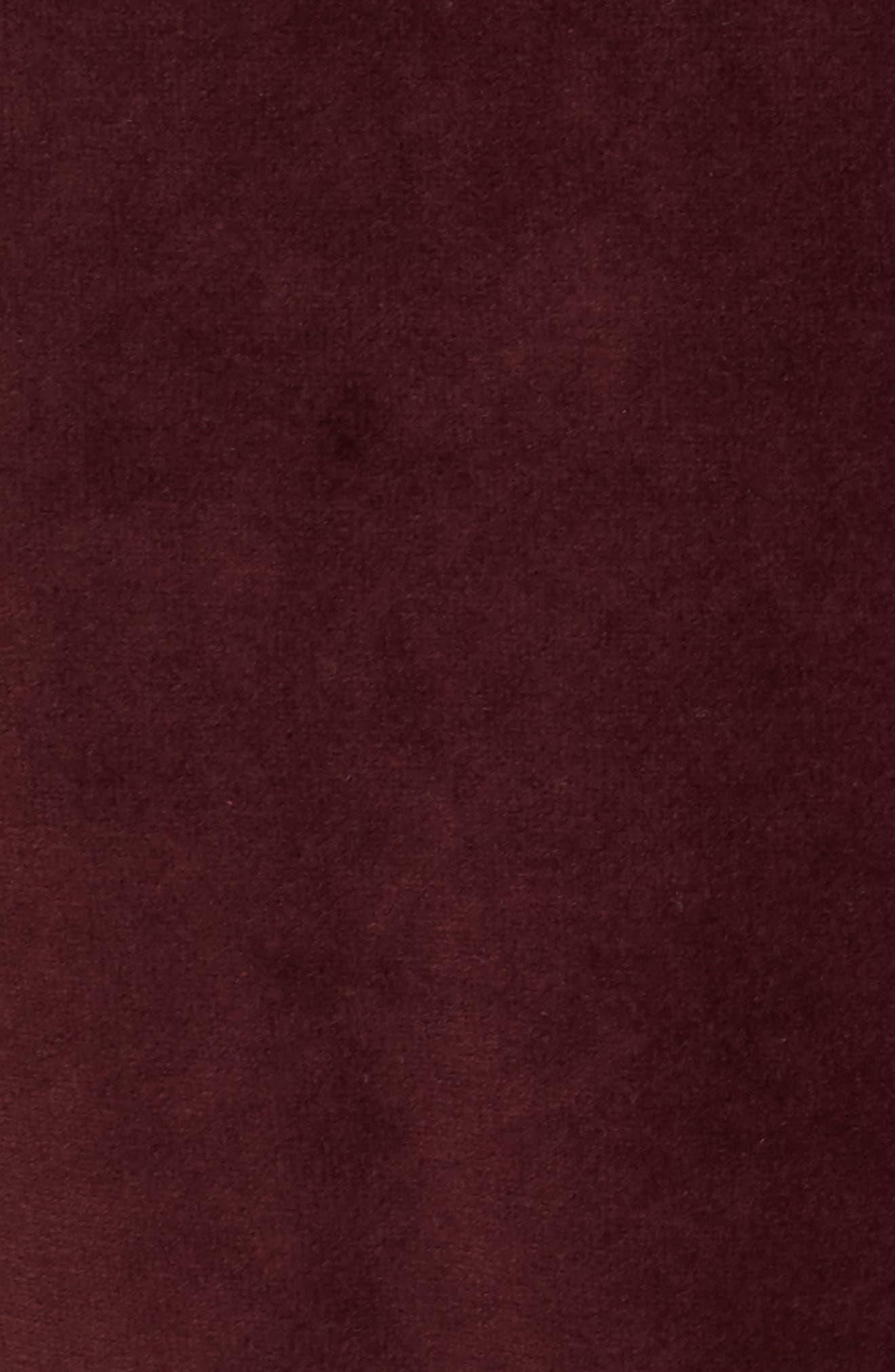 Velour Jogger Pants,                             Alternate thumbnail 5, color,                             Good Burgundy