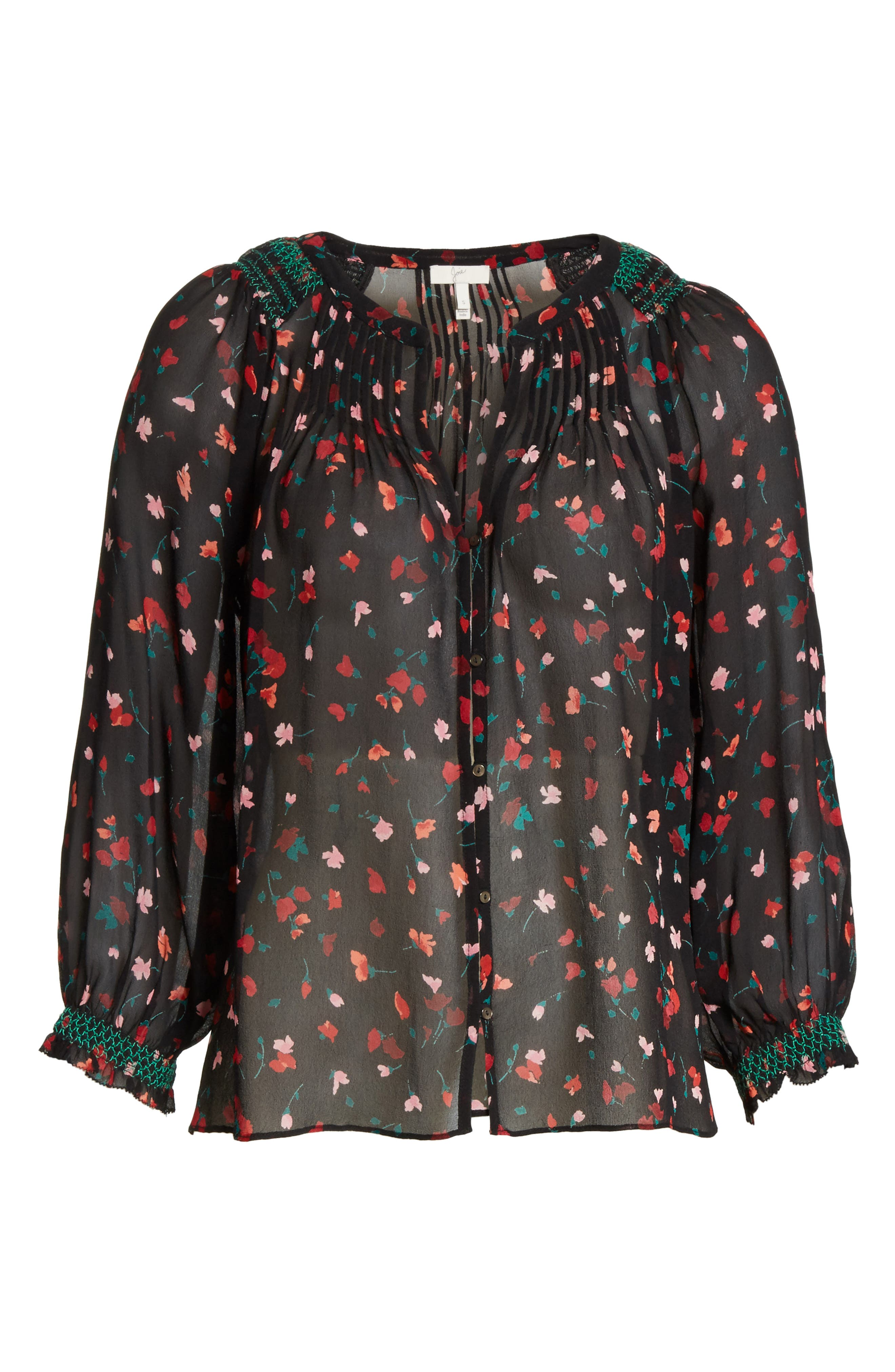 Alternate Image 6  - Joie Gontilda Floral Silk Blouse