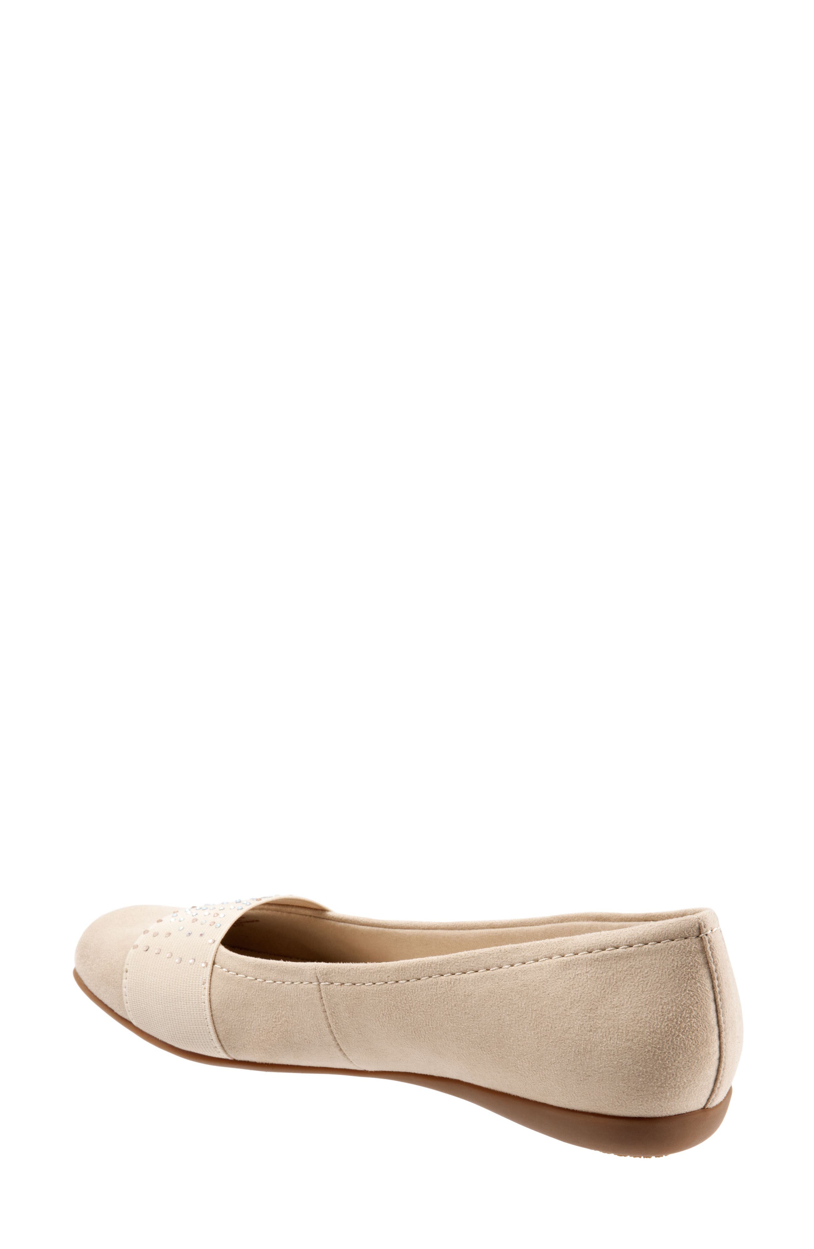 Samantha Flat,                             Alternate thumbnail 2, color,                             Nude Suede