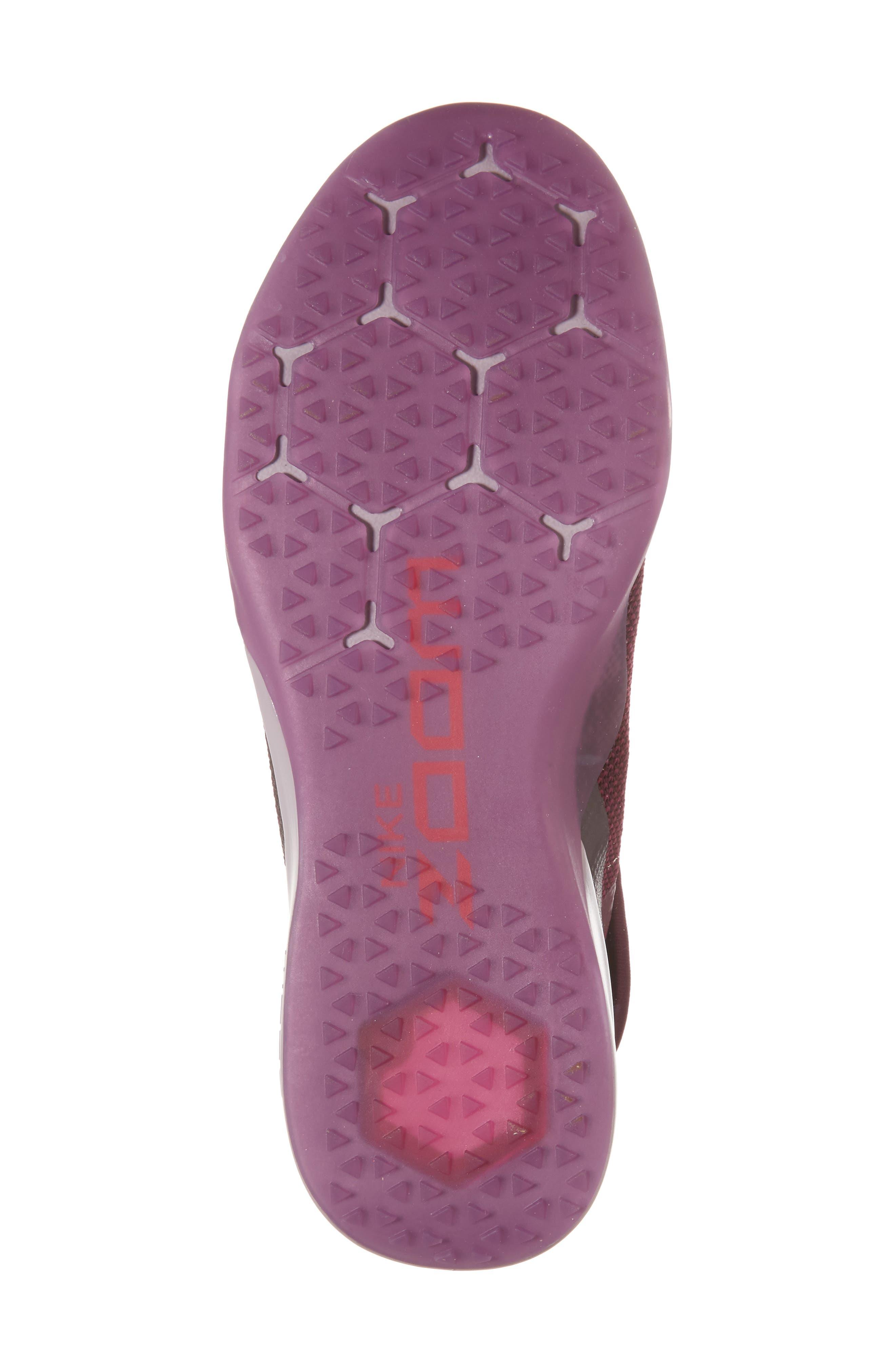 Air Zoom Strong 2 Gem Training Shoe,                             Alternate thumbnail 6, color,                             Bordeaux/ Metallic Pewter