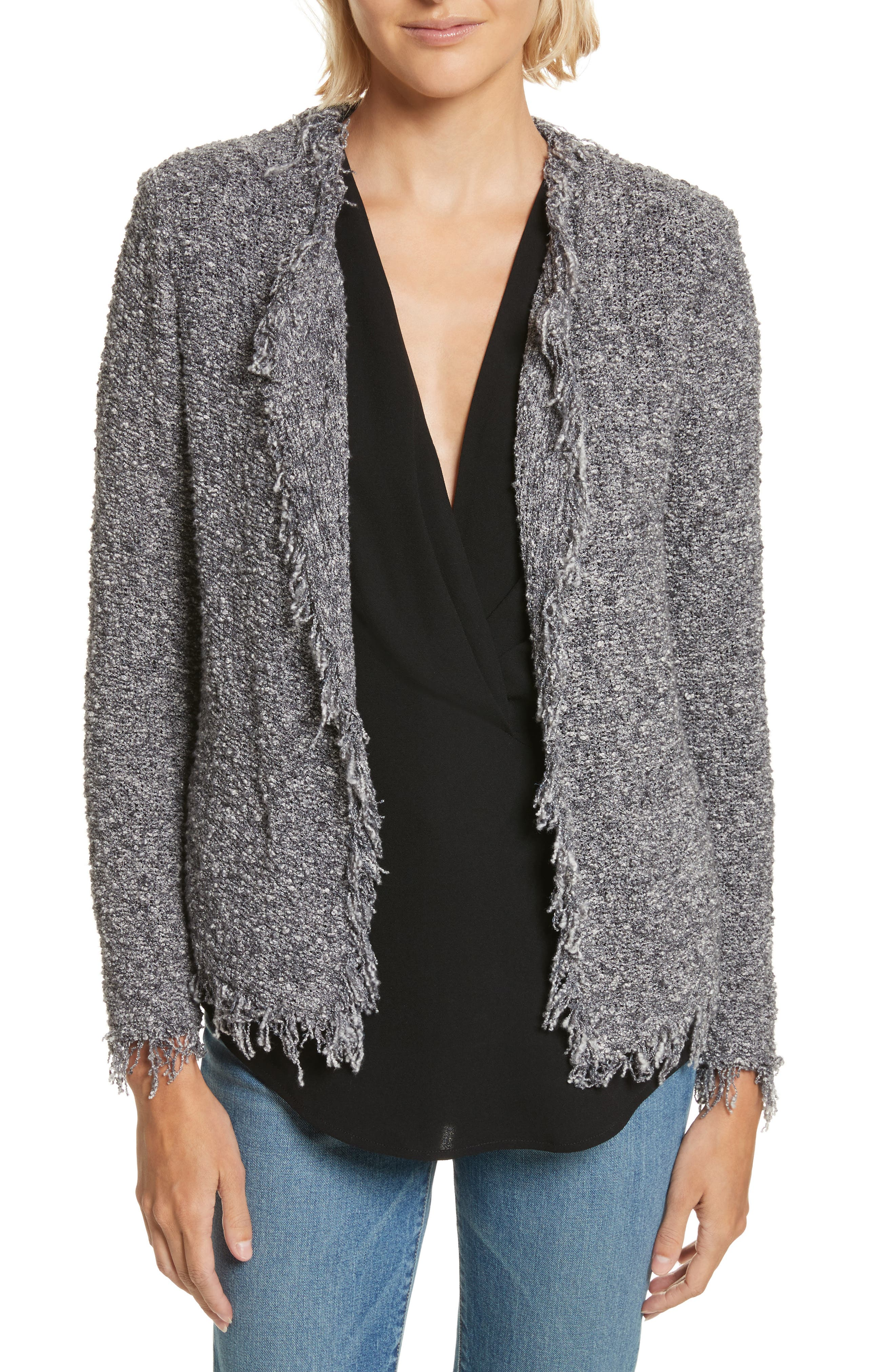 Shavanix Tweed Jacket,                             Main thumbnail 1, color,                             Dark Grey